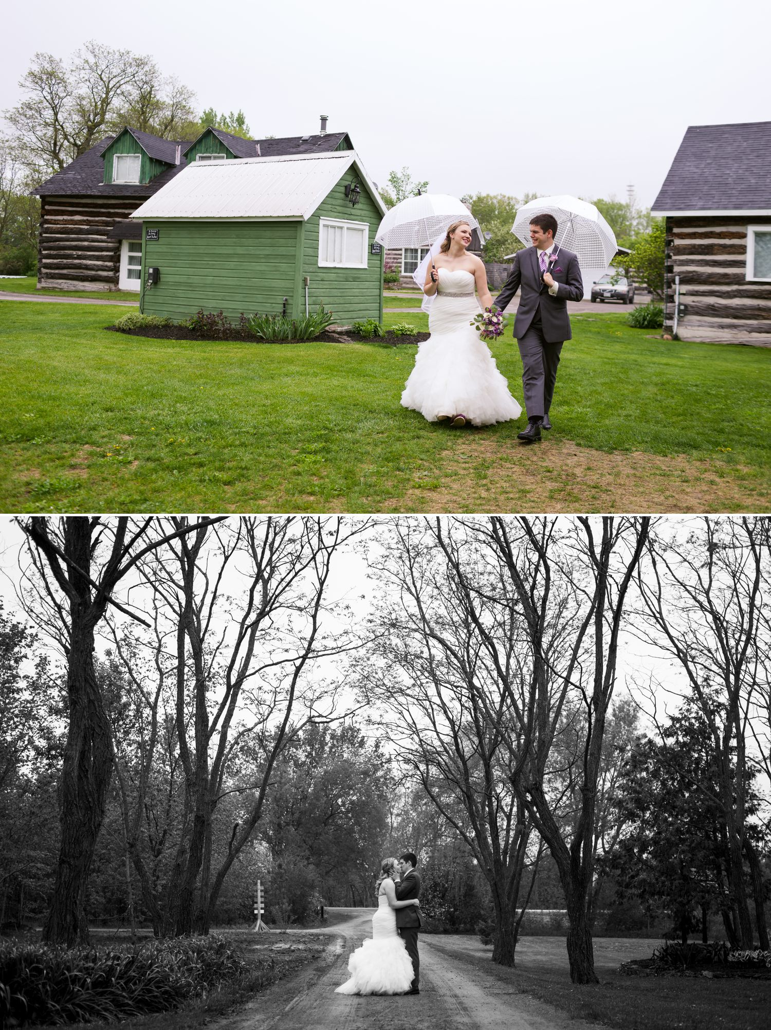 The bride and groom together after their outdoor ceremony at Stonefields wedding venue
