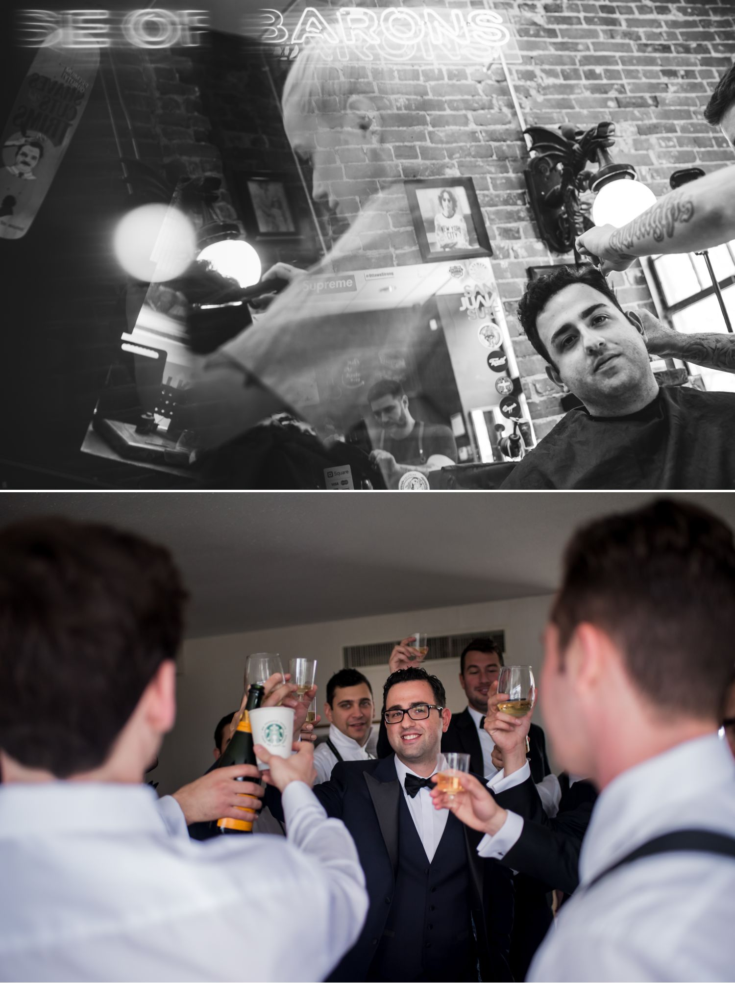 groom getting ready at the house of barons for his chateau laurier wedding in ottawa