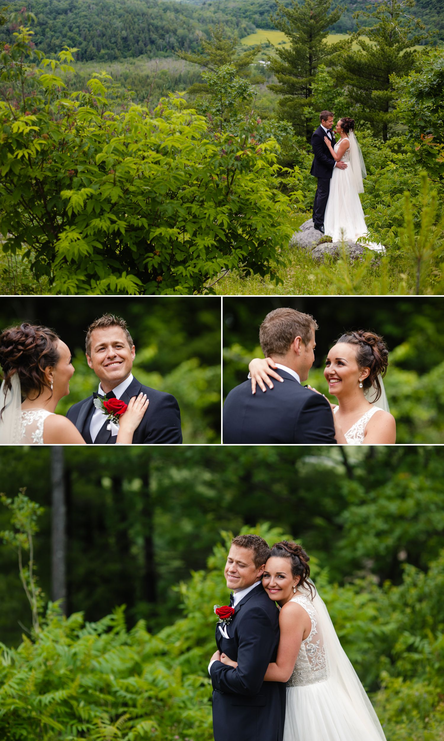 Couples portraits of the bride and groom at Le Belvedere