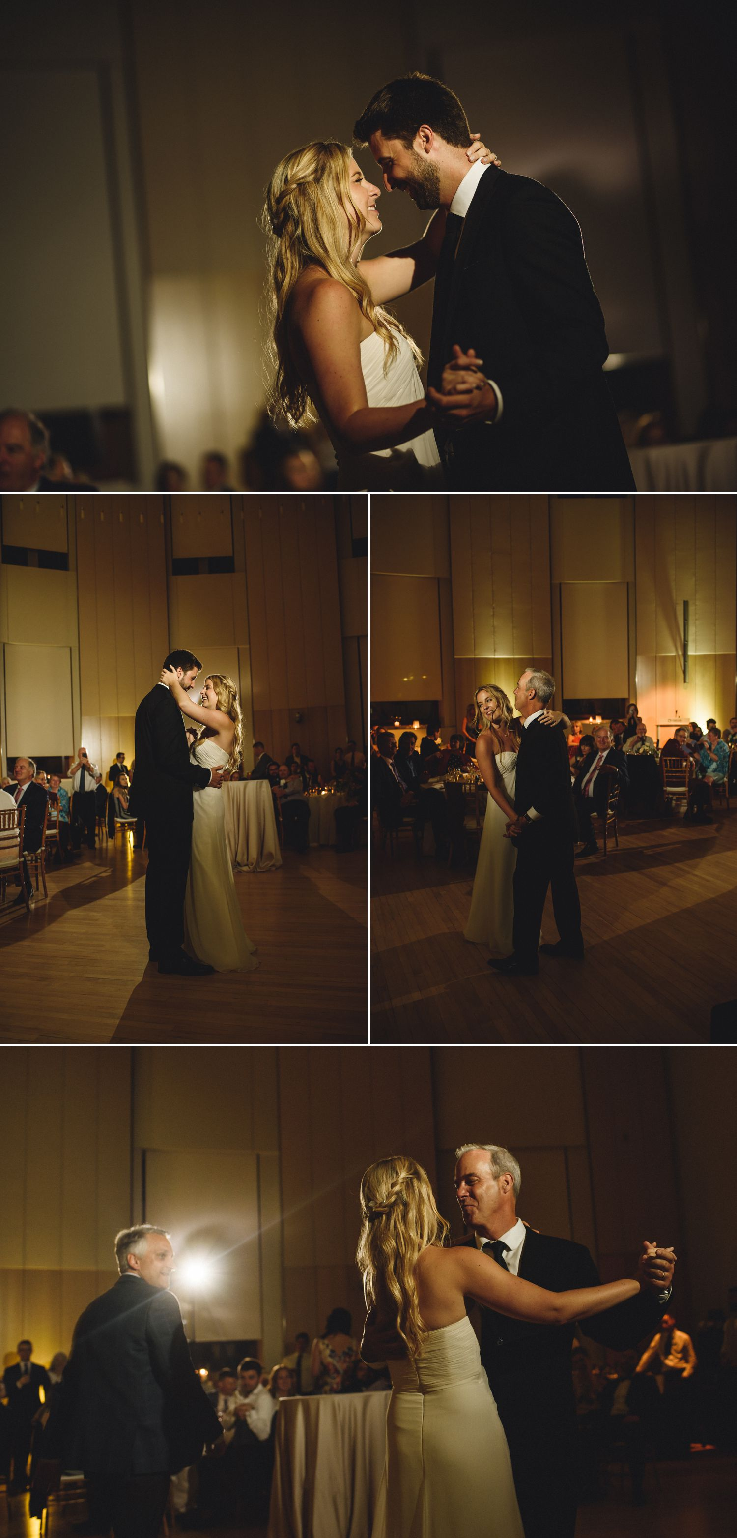 The bride and groom during their first dance at their wedding reception at The Museum of Nature in downtown Ottawa