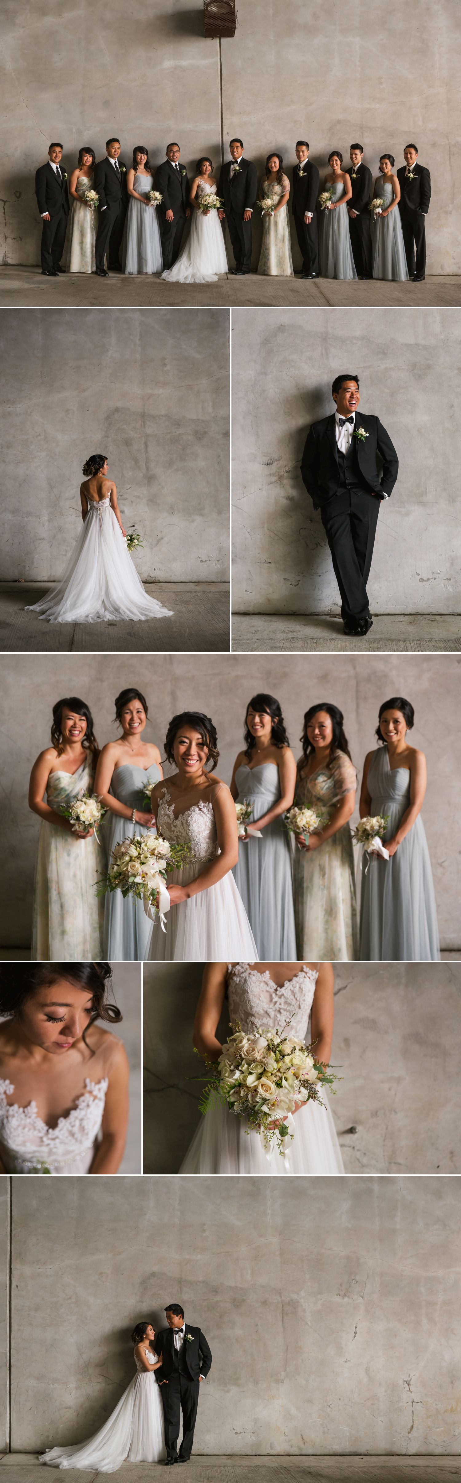 Portraits of the bride and groom and their wedding party taken near the Rideau Canal in downtown Ottawa