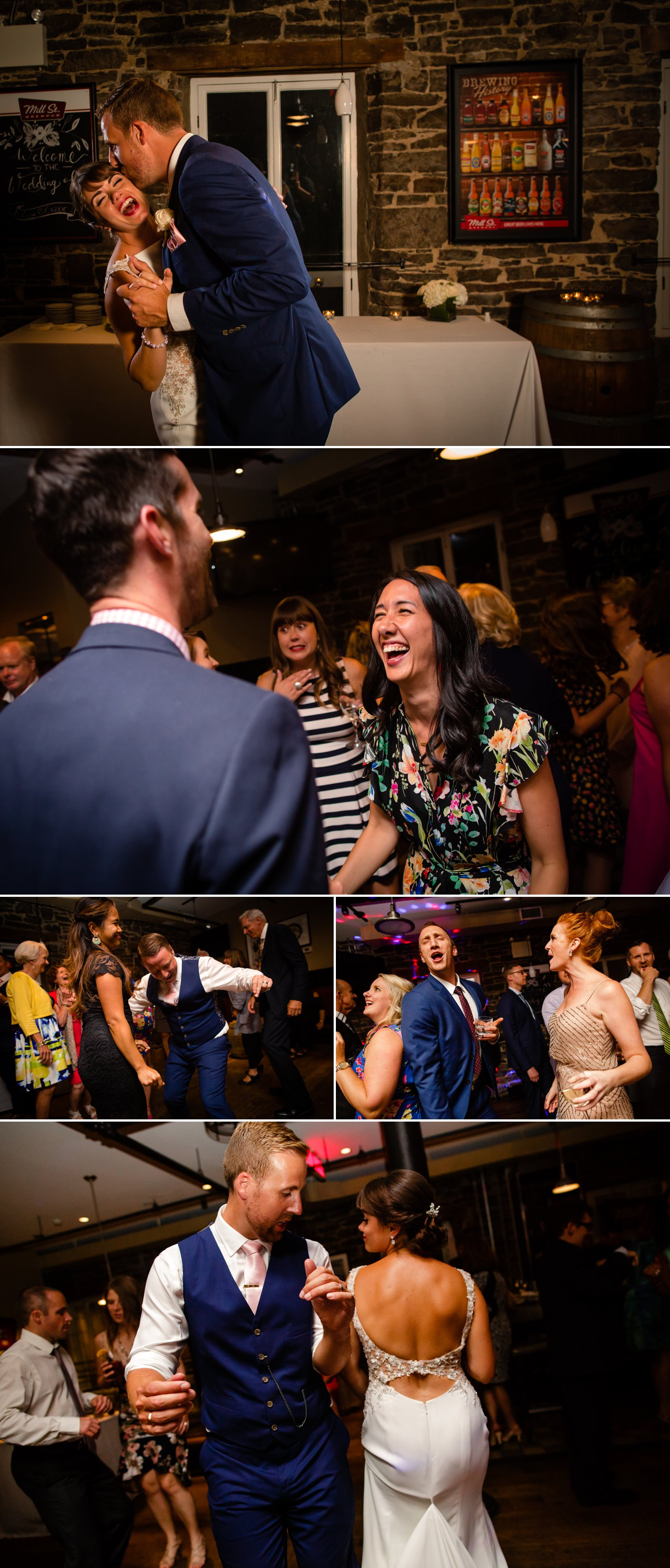 A wedding reception at The Mill St Brew Pub in downtown Ottawa