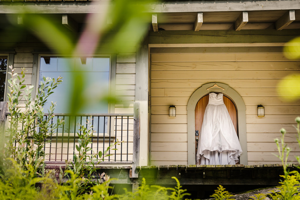 Wedding dress at the le belvedere guest house