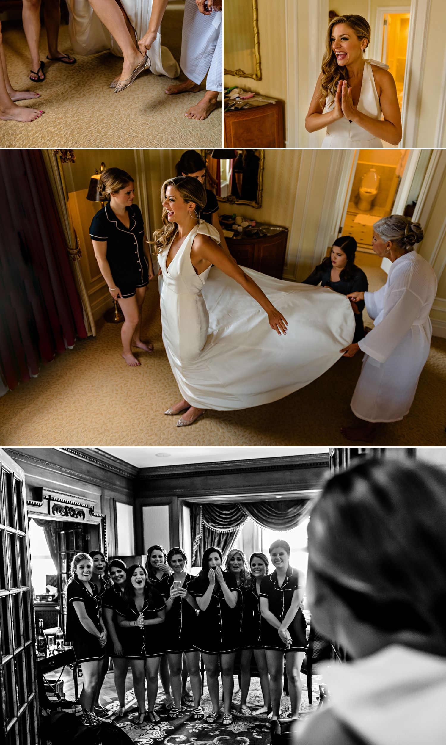 bride getting ready for her jewish wedding at the fairmont chateau laurier in ottawa on