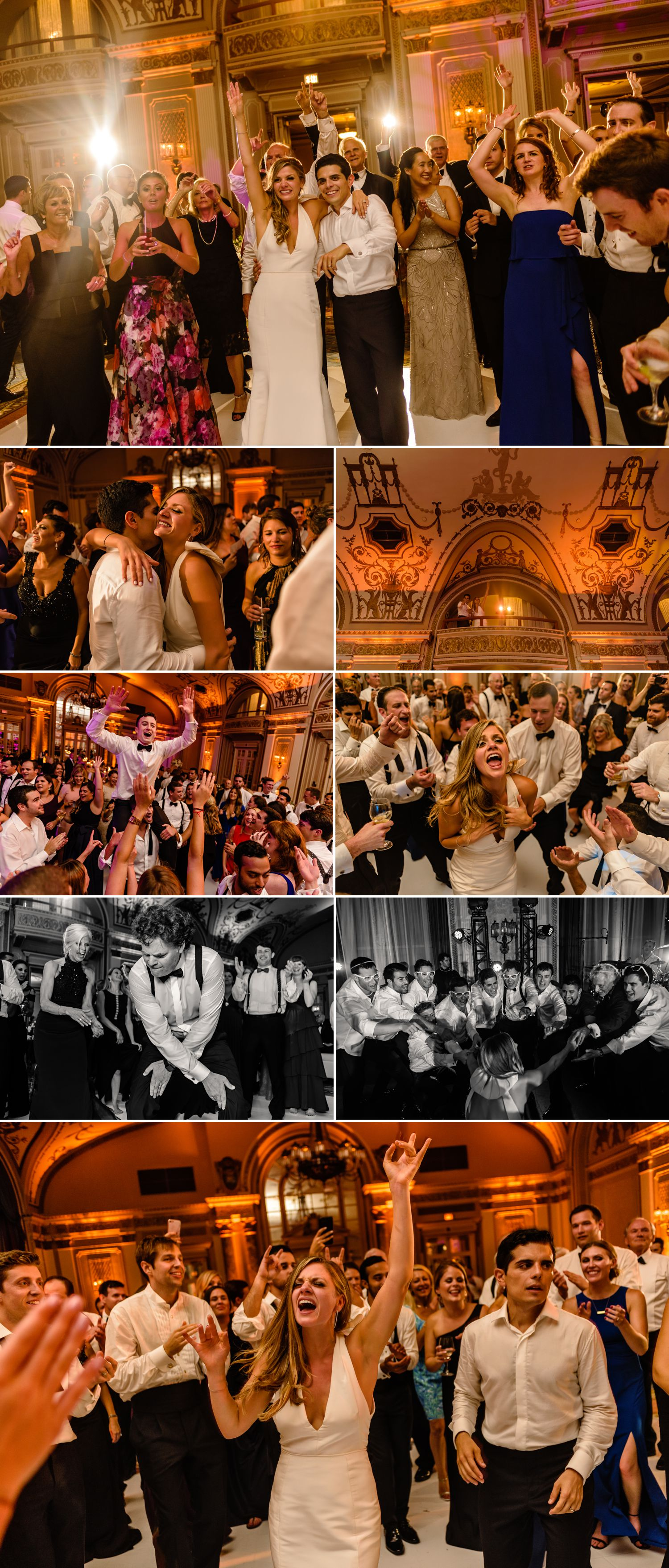candid dance floor moments during a jewish wedding at the fairmont chateau lauriers ballroom in ottawa on
