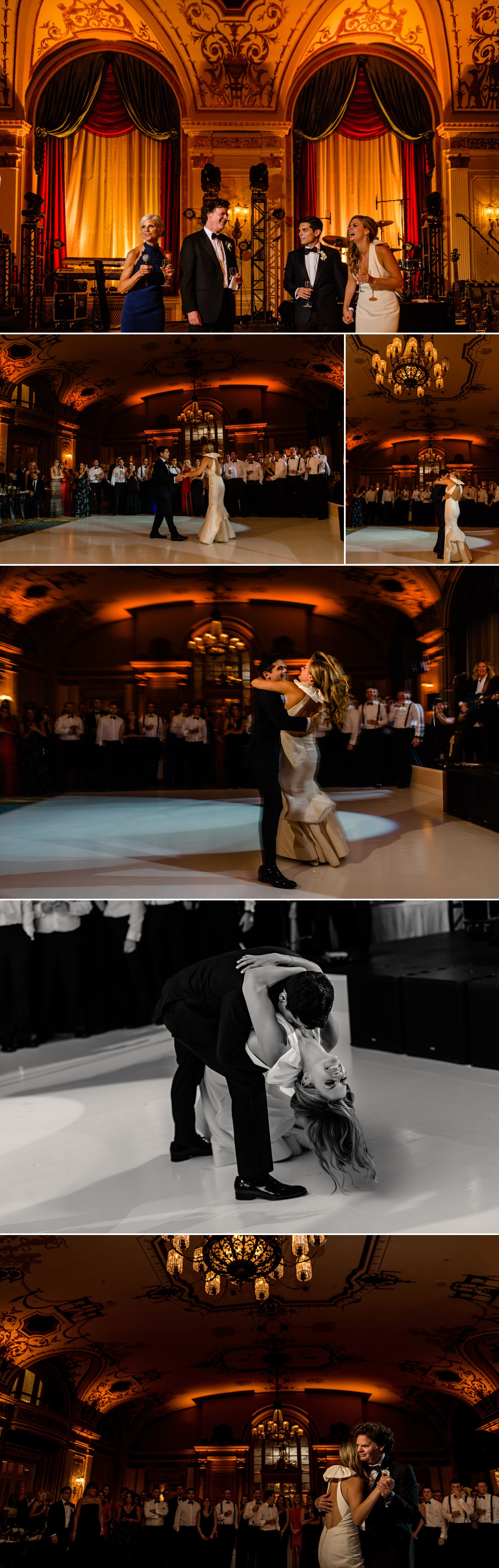 first dances during a jewish wedding at the fairmont chateau laurier in ottawa on
