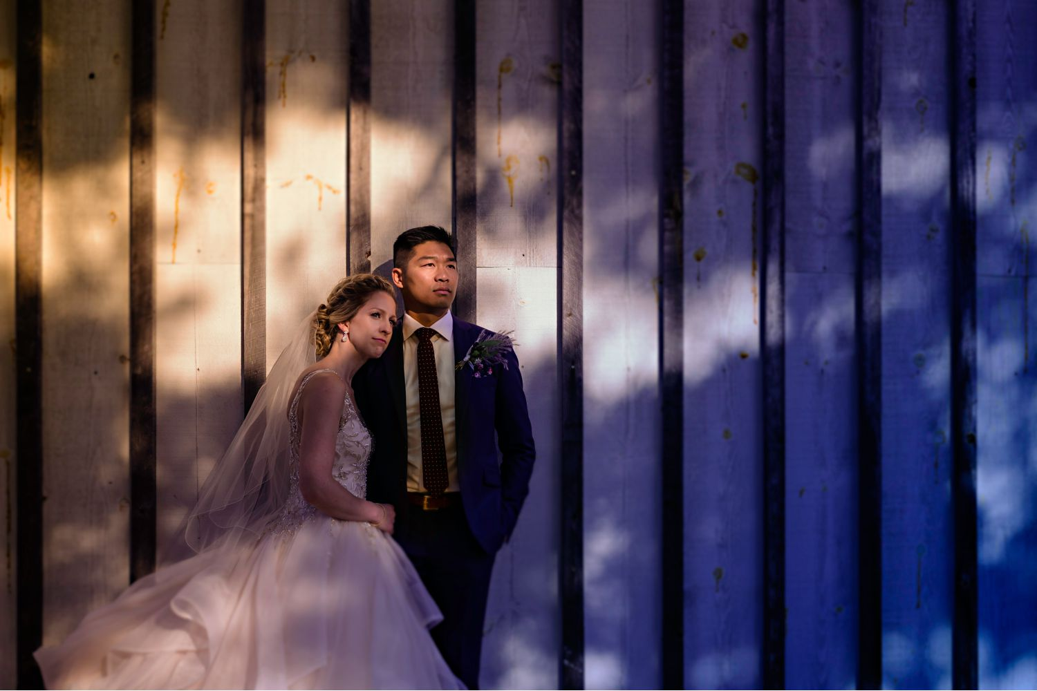 cool couple portrait at a le belvedere wedding in wakefield quebec