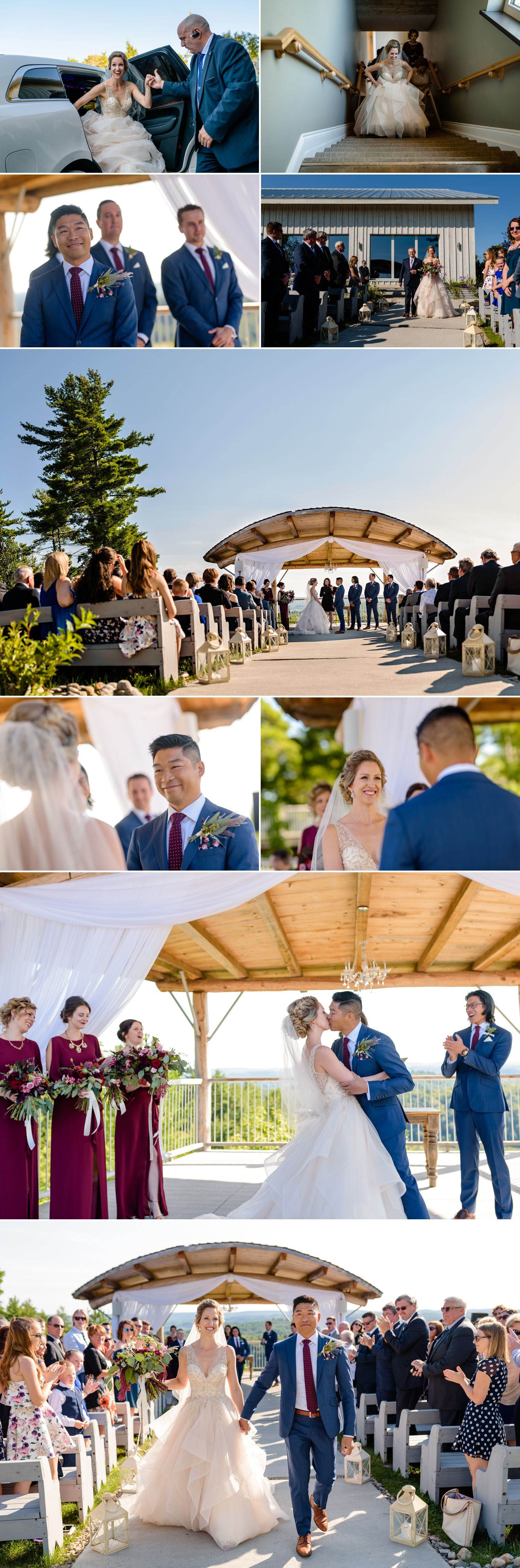 candid wedding ceremony moments during at le belvedere in wakefield quebec