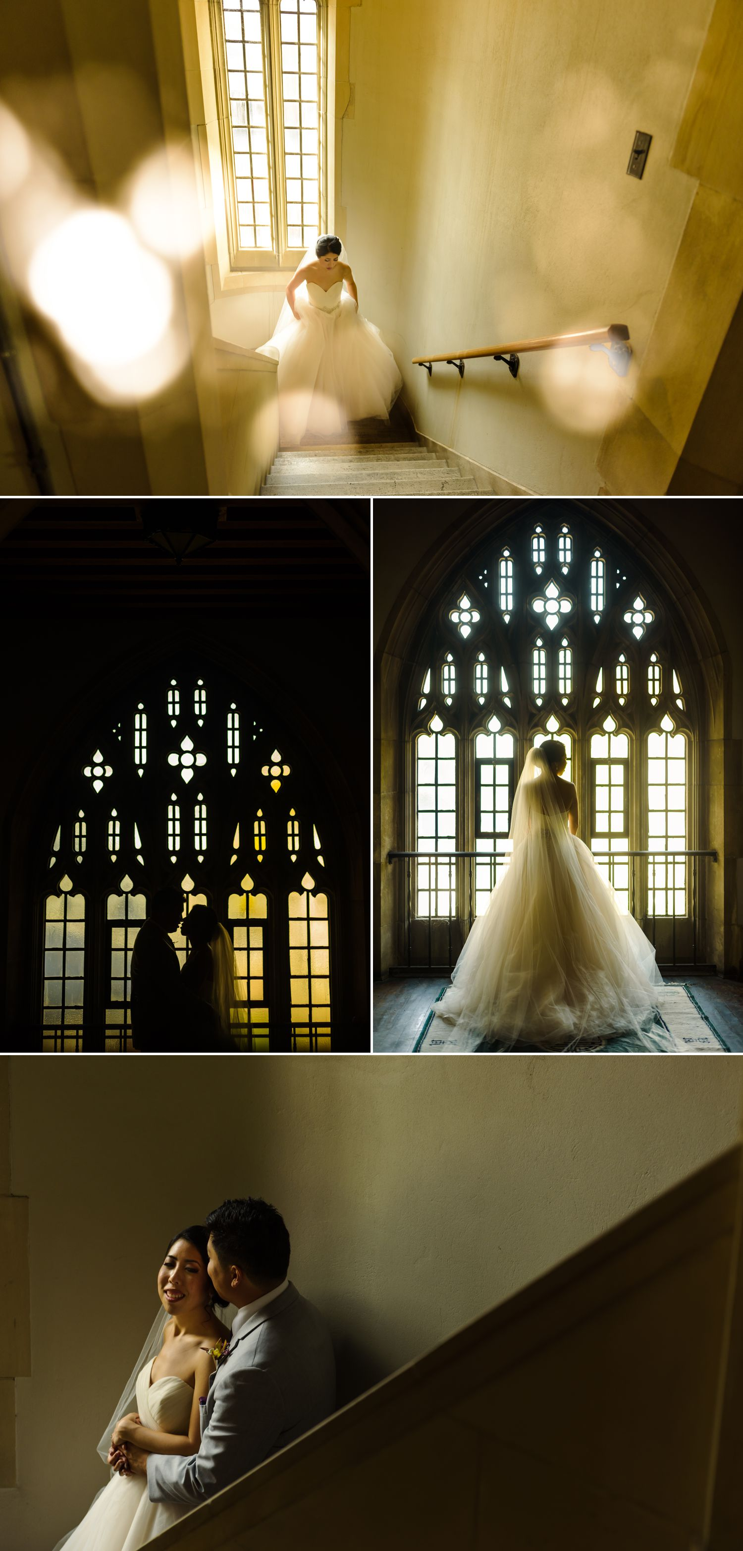 Portraits of the bride and groom after their wedding ceremony at The Knox Presbyterian Church in downtown Ottawa