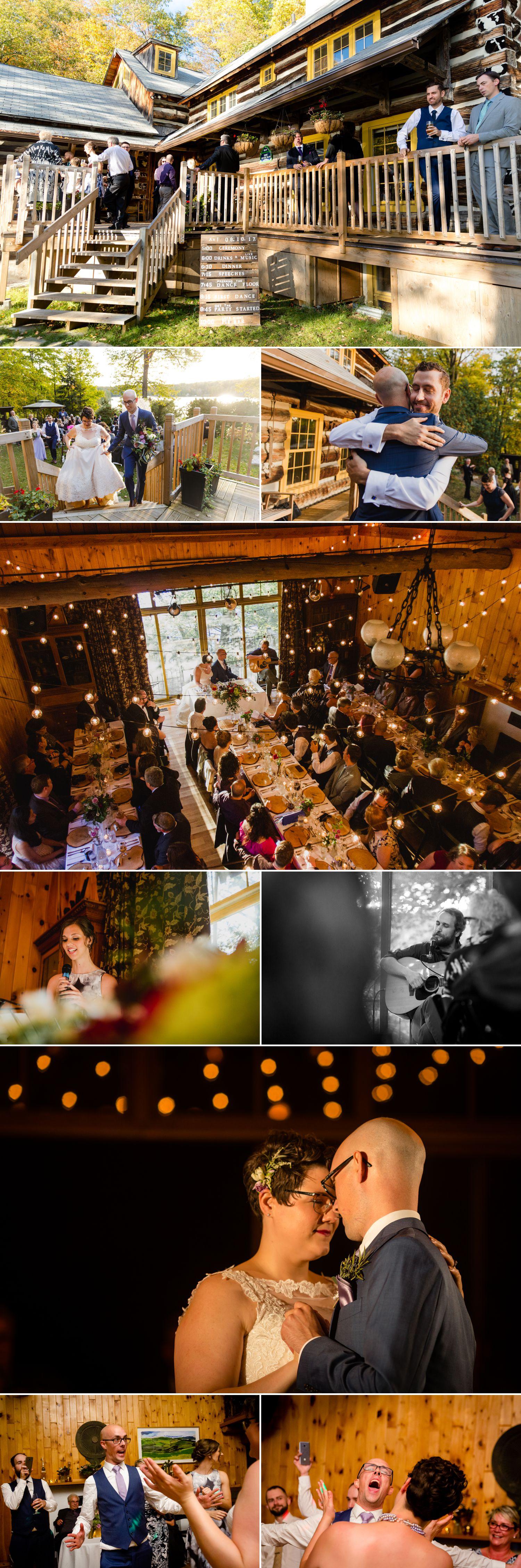 A wedding reception help at La Grange de la Gatineau