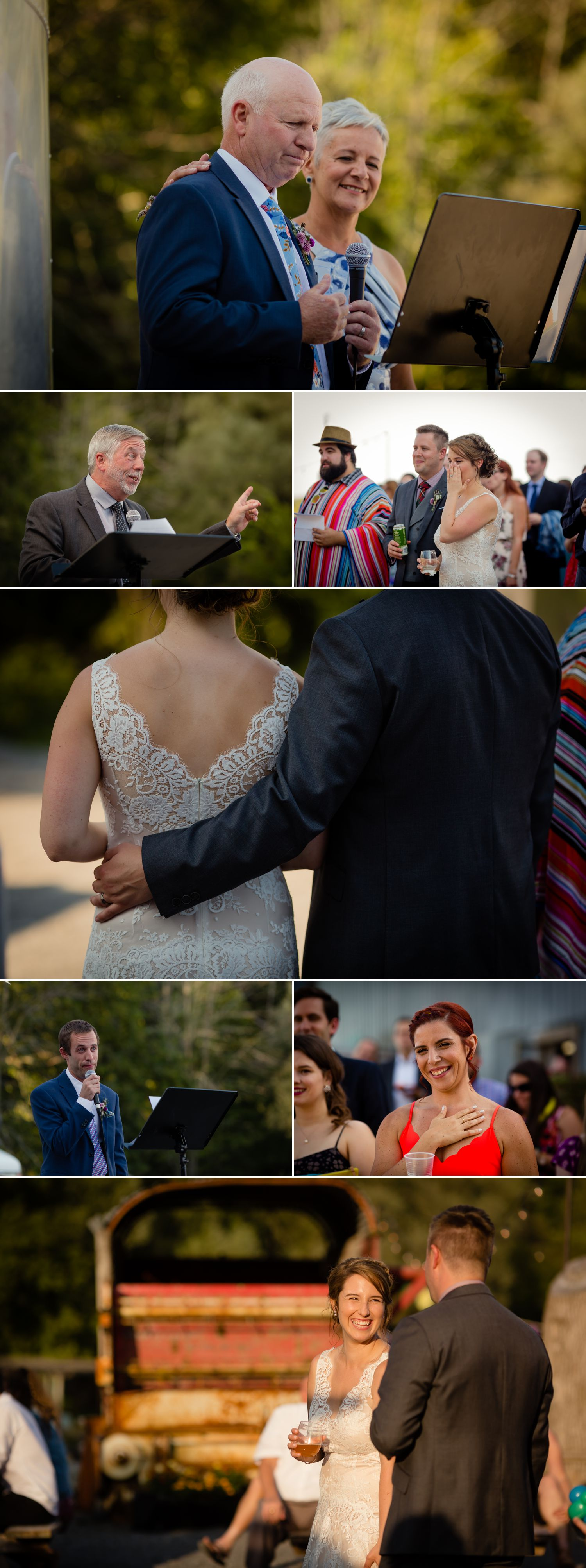A wedding reception outside at the Haymow Farm in Ottawa