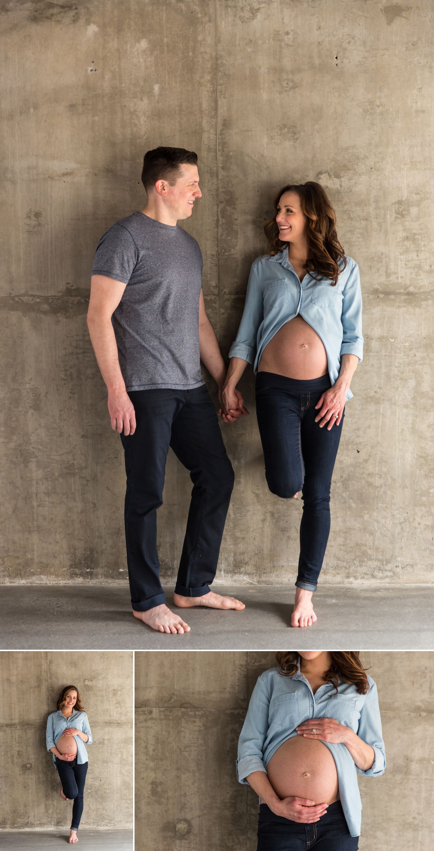 casual couples maternity portraits