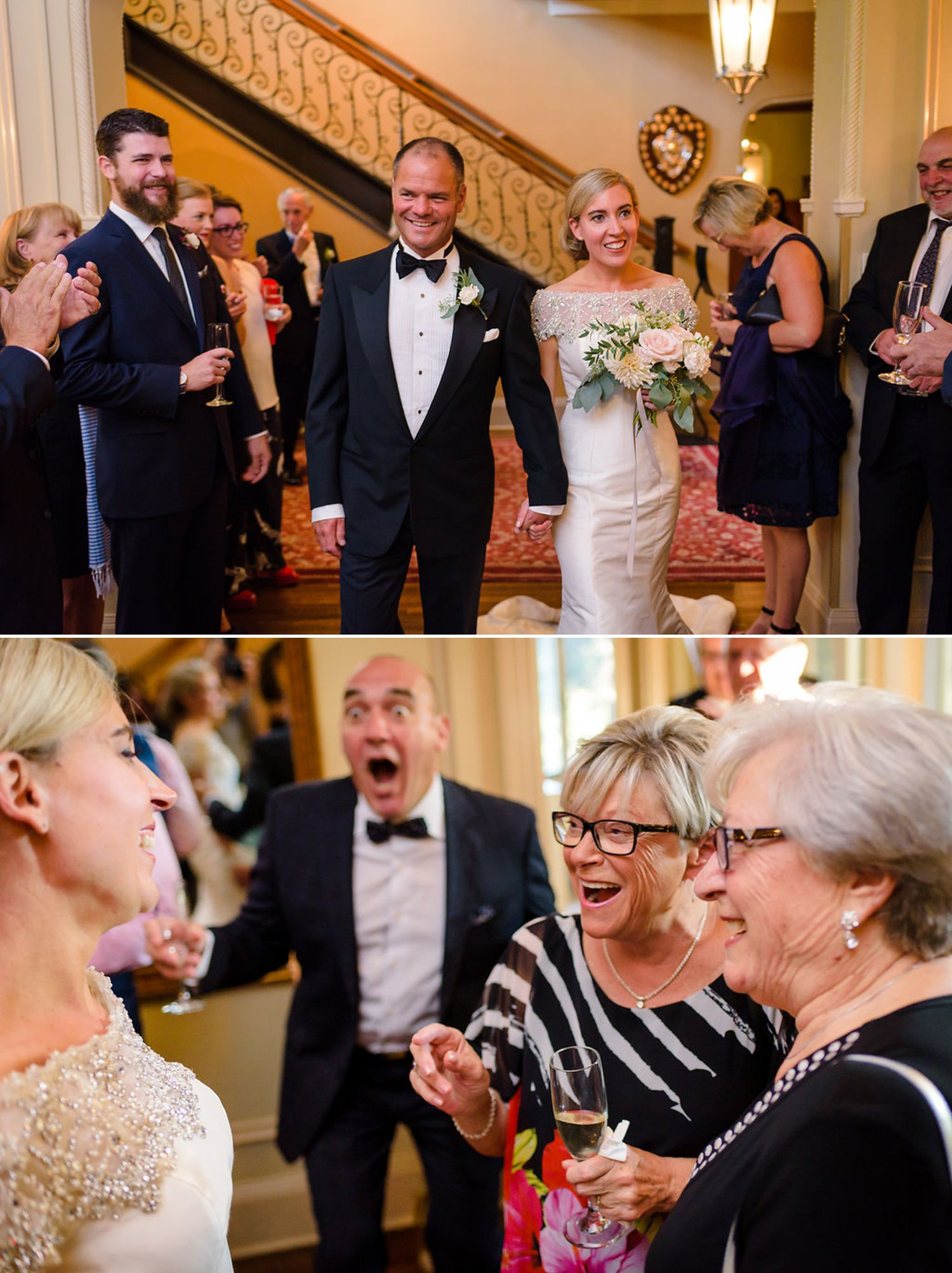 photographs of a wedding ceremony inside the royal ottawa golf club