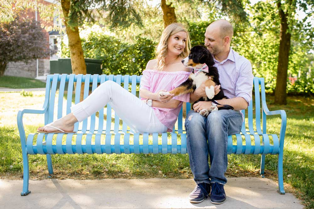trendy bright and airy engagement photograph in ottawa