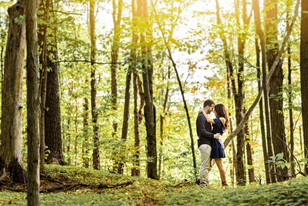 engagement photo in nature