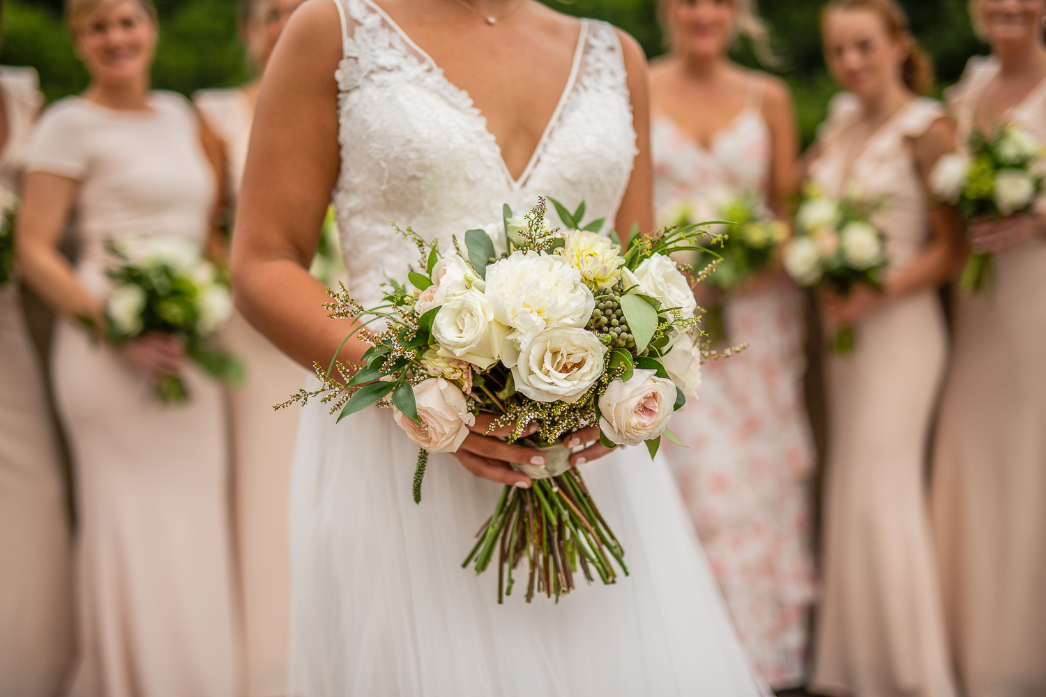 close up of a brides bouquet in ottawa