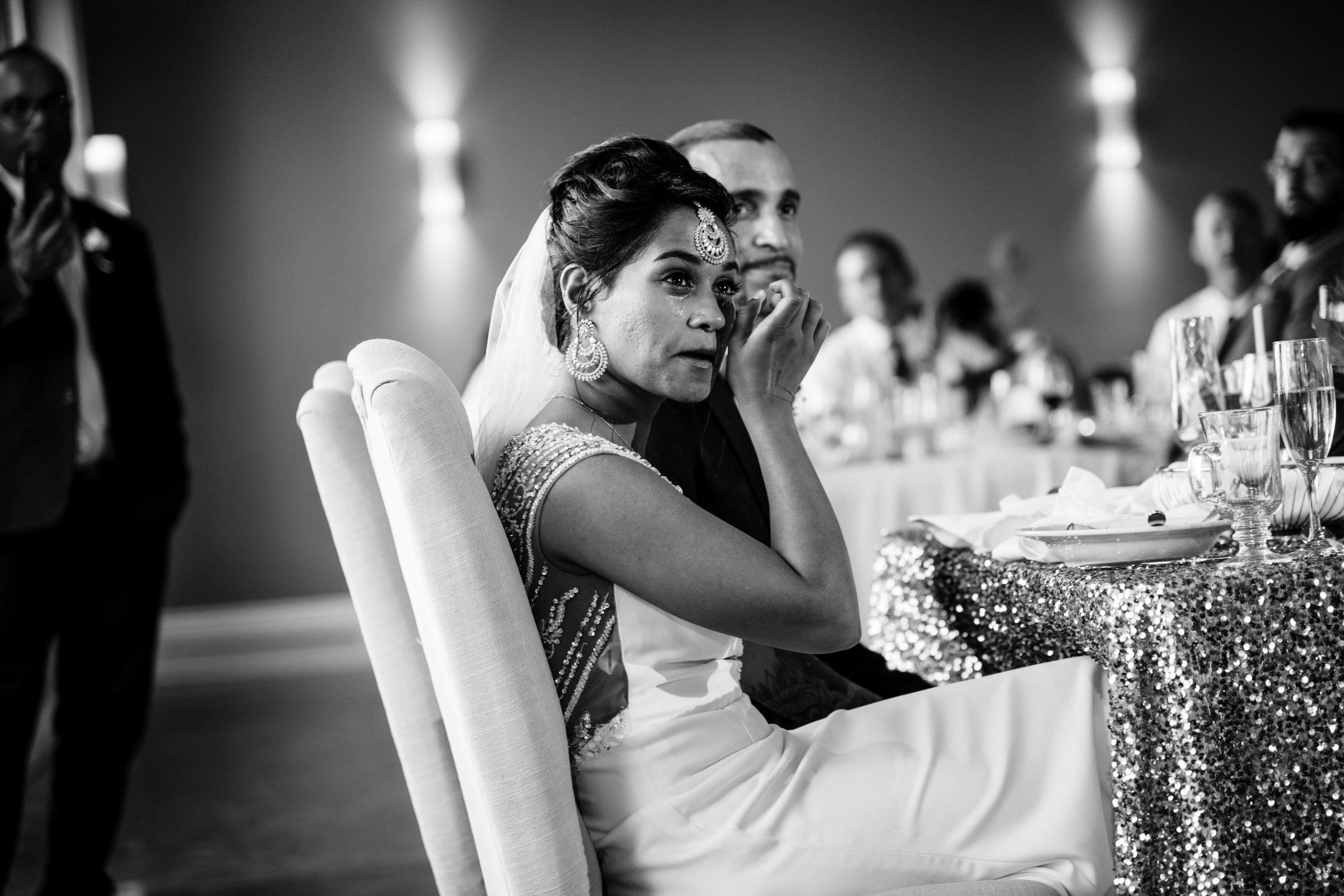 emotional speech photo at a wedding