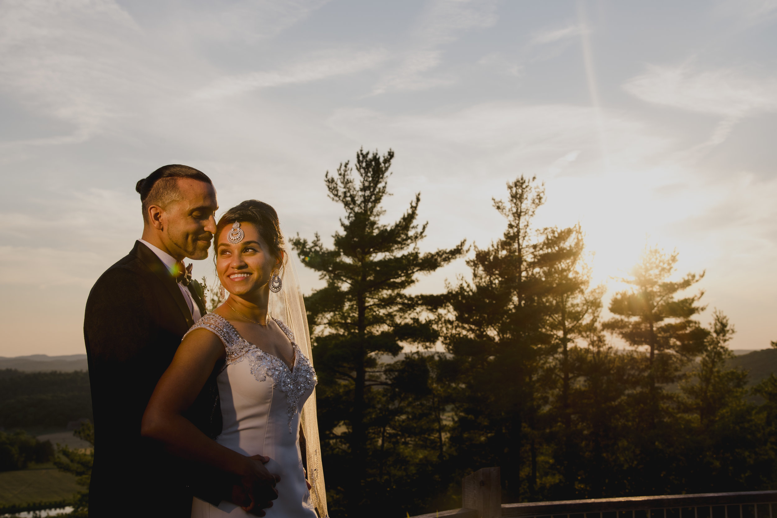 artistic photo of a bride and groom at a le belvedere wedding