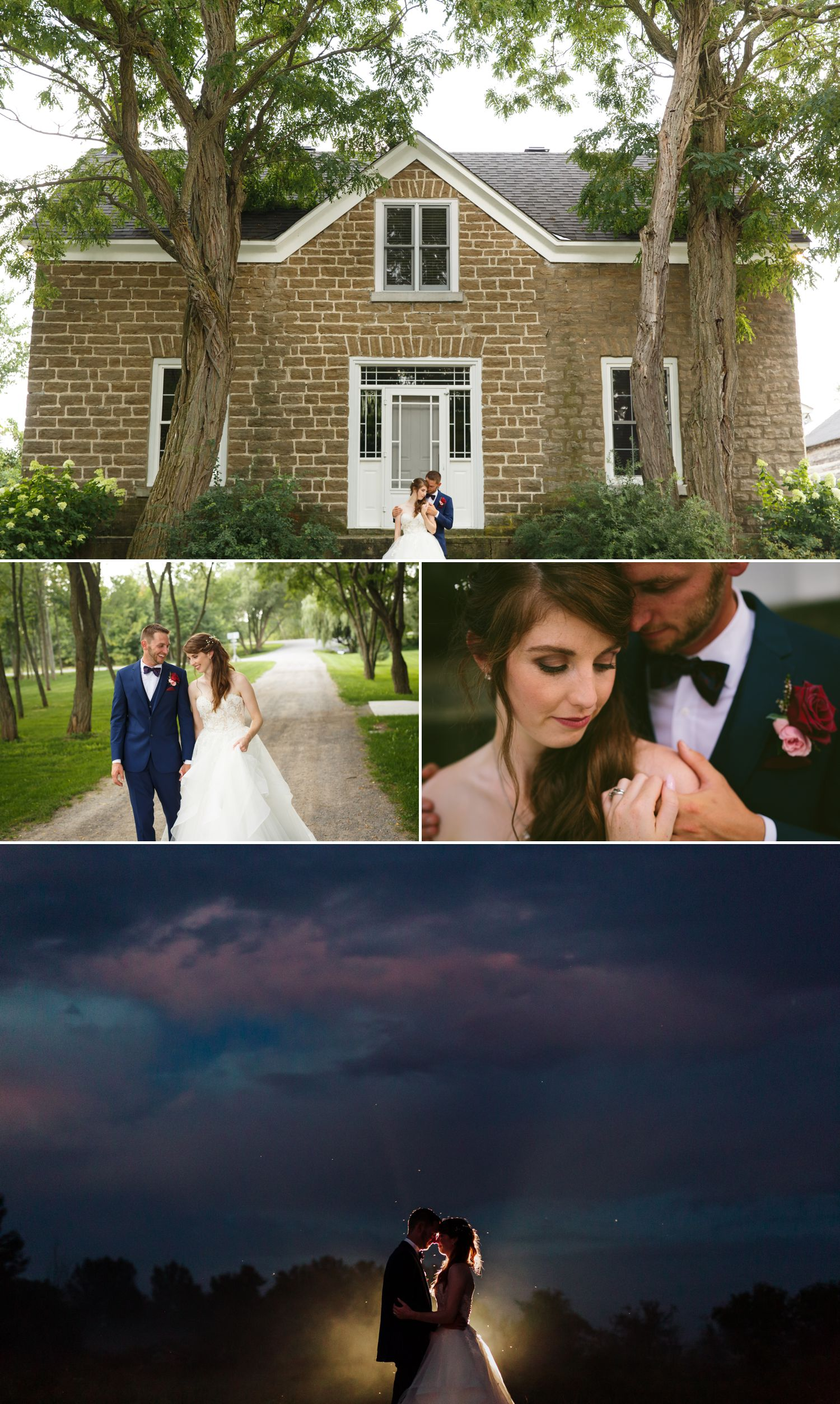 Portraits of the bride and groom taken at Stonefields Estate