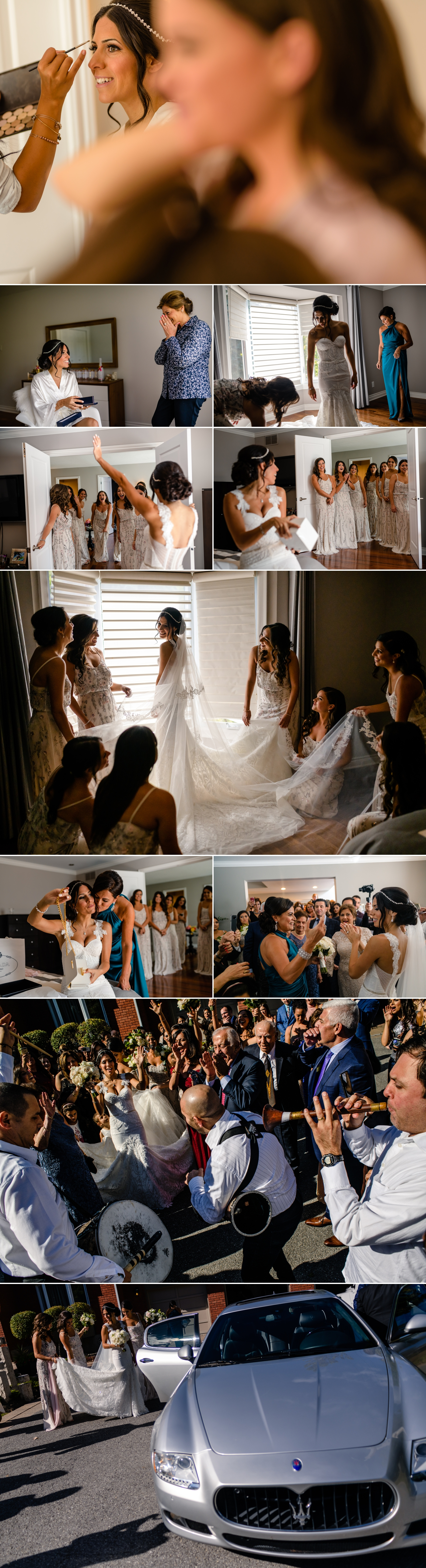 bride getting ready before a lebanese wedding ceremony at st elias cathedral in ottawa