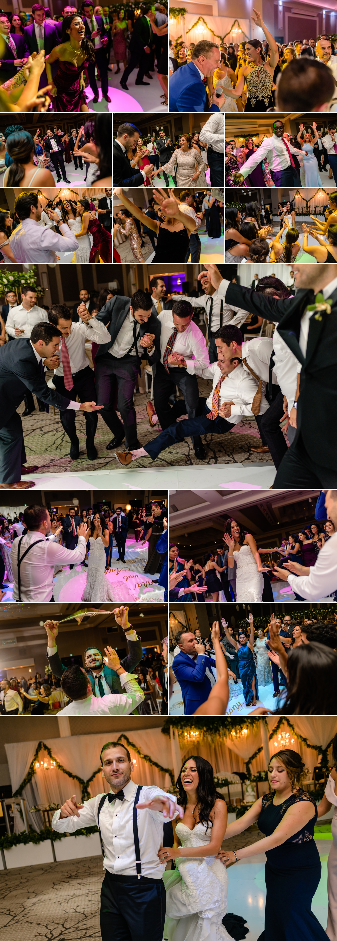 candid dance floor moments during a lebanese wedding reception at the infinity centre in ottawa