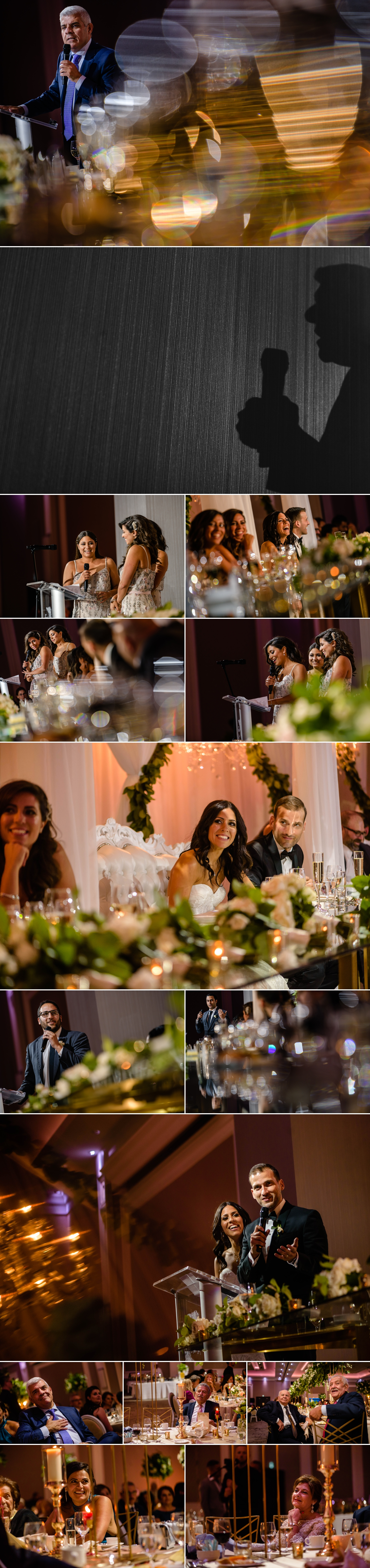 candid moments during speeches at a lebanese wedding reception at the infinity centre in ottawa