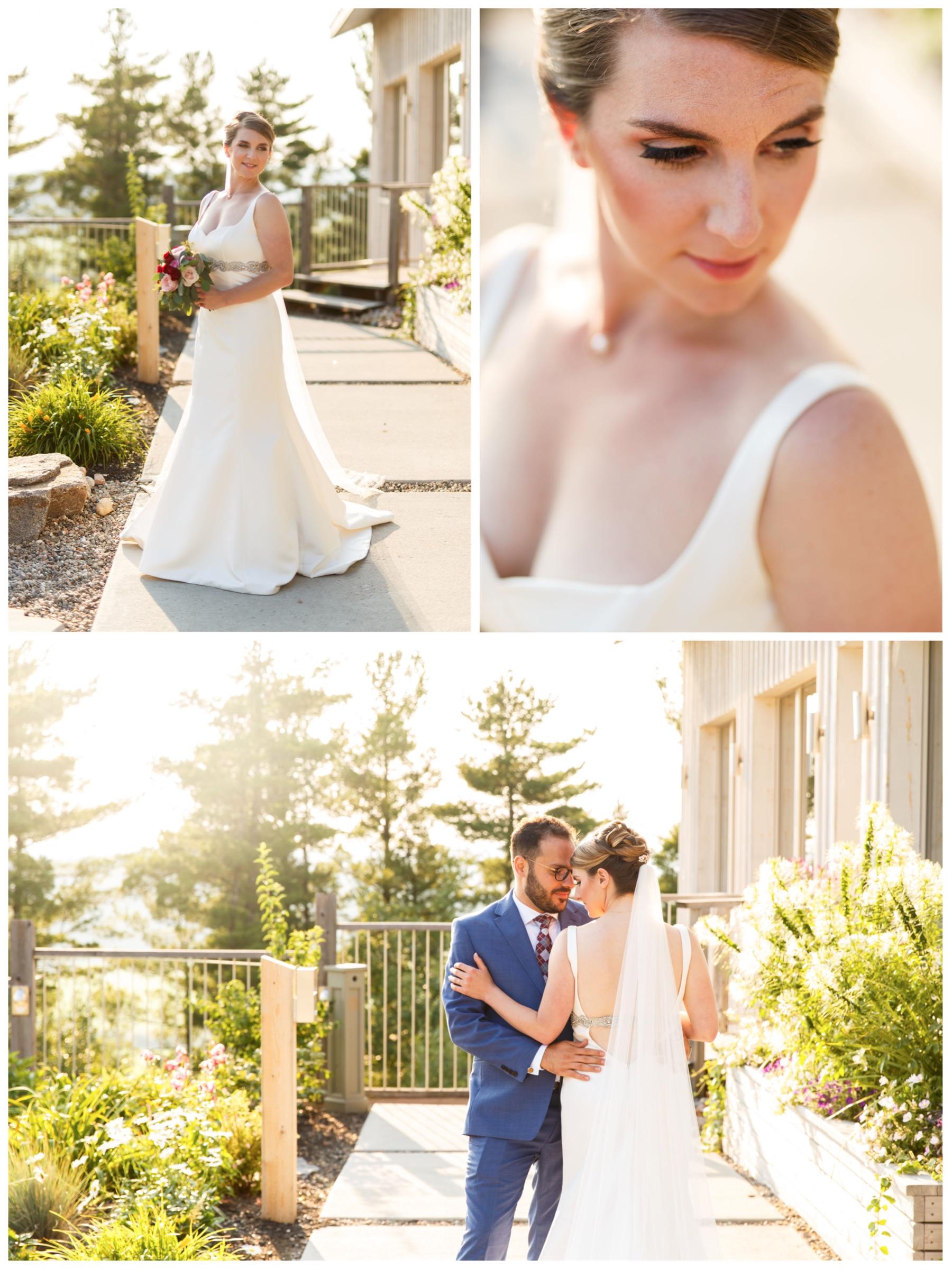 natural light portrait of a bride at le belvedere
