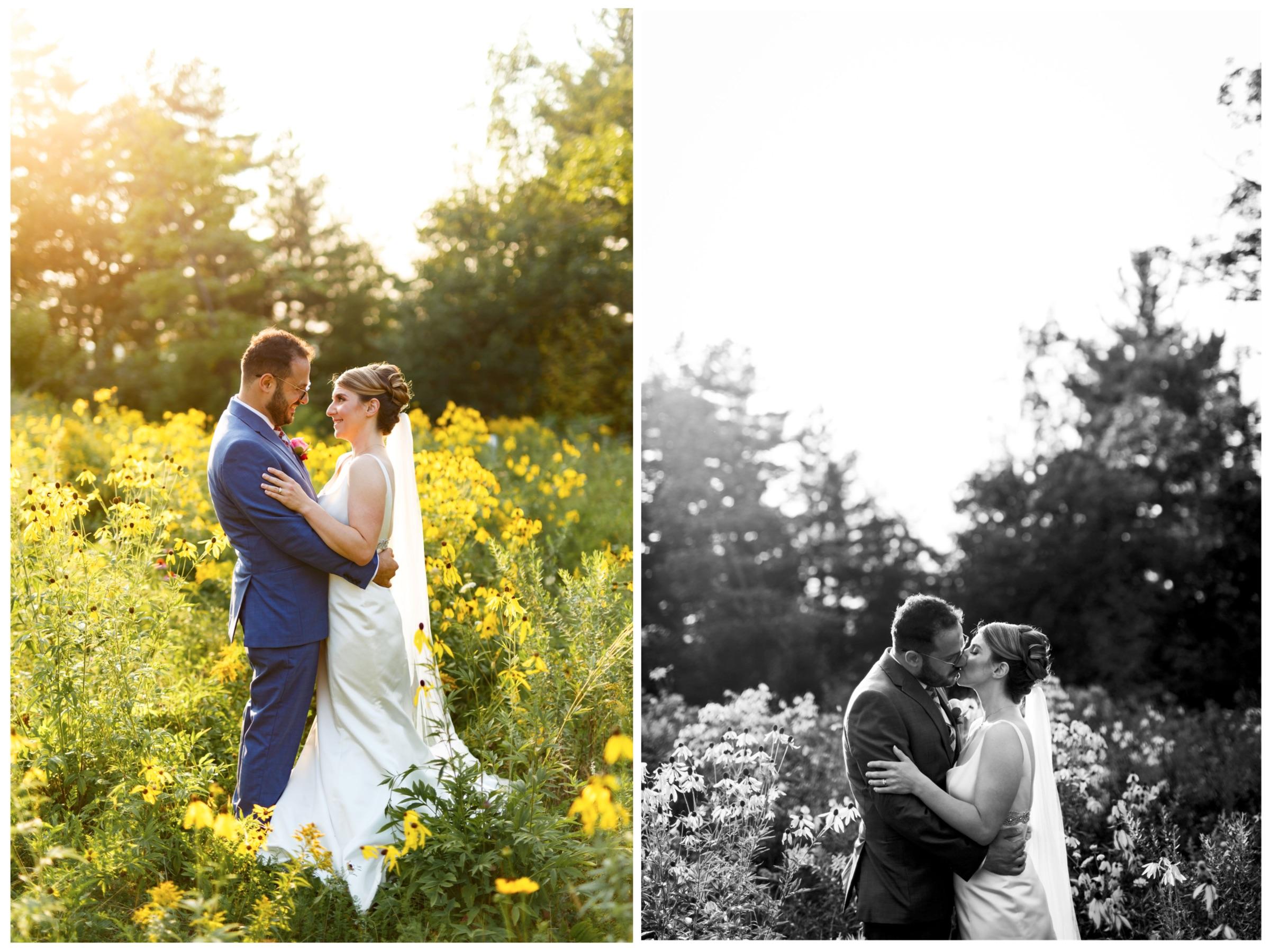 natural light sunset wedding photos