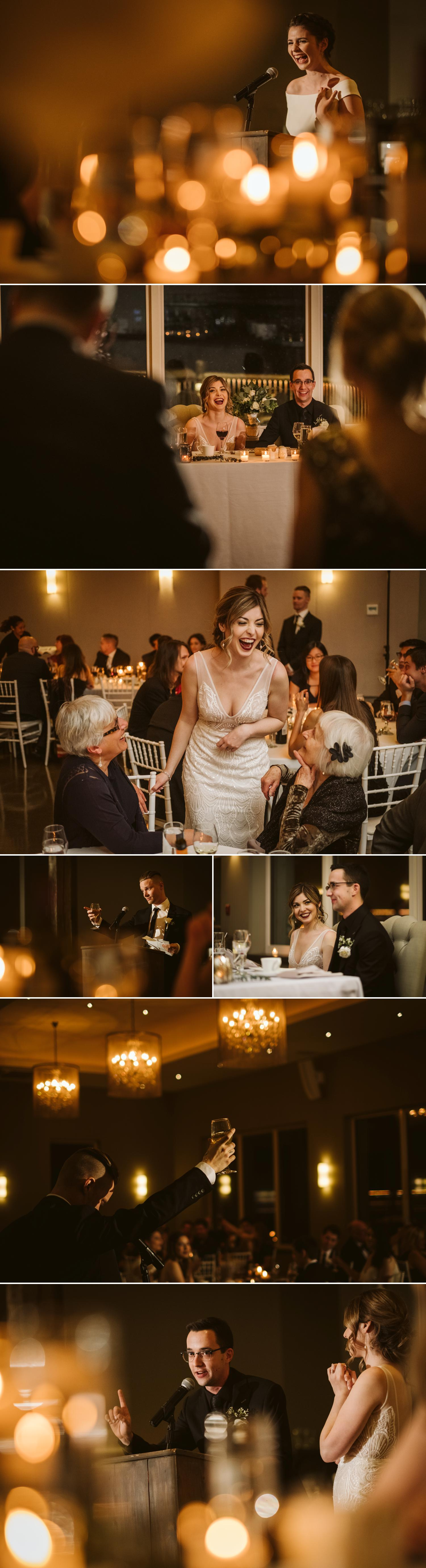 photographs of a wedding reception at le belvedere