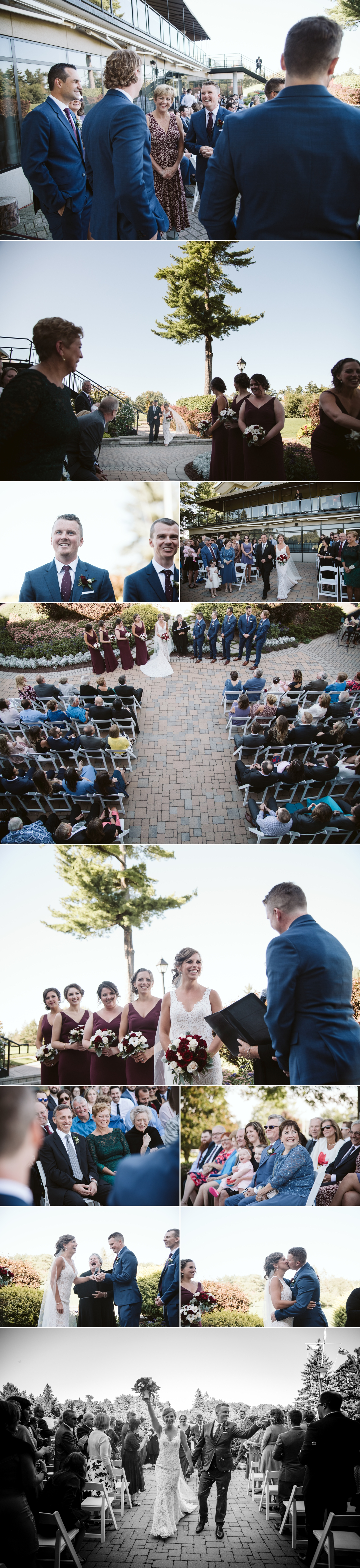 candid moments during a hunt and golf club wedding ceremony in ottawa ontario