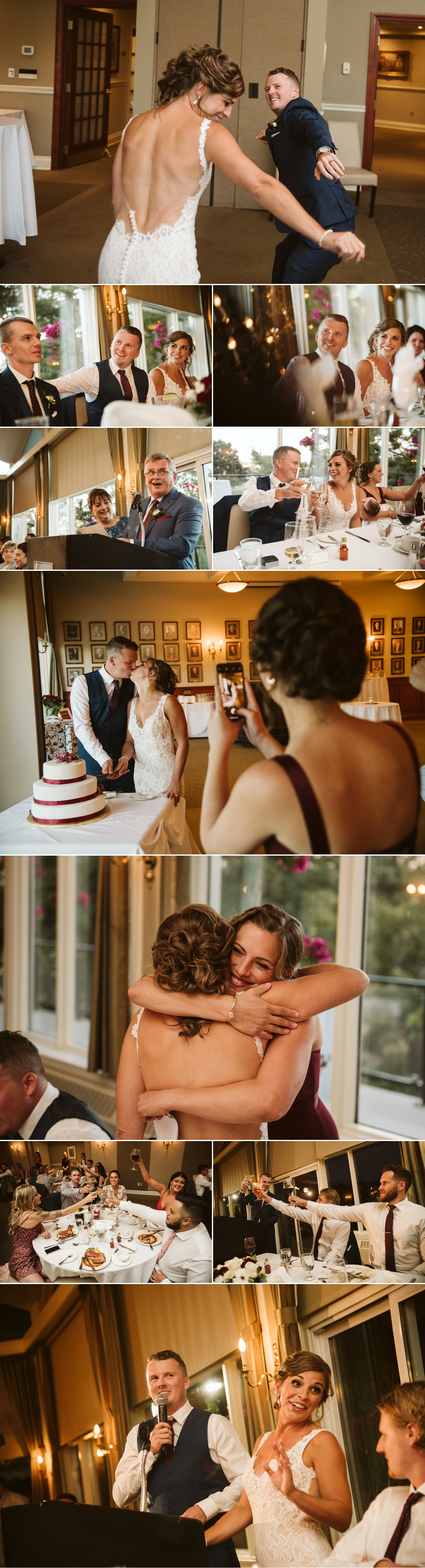 candid moments during a hunt and golf club wedding reception in ottawa ontario