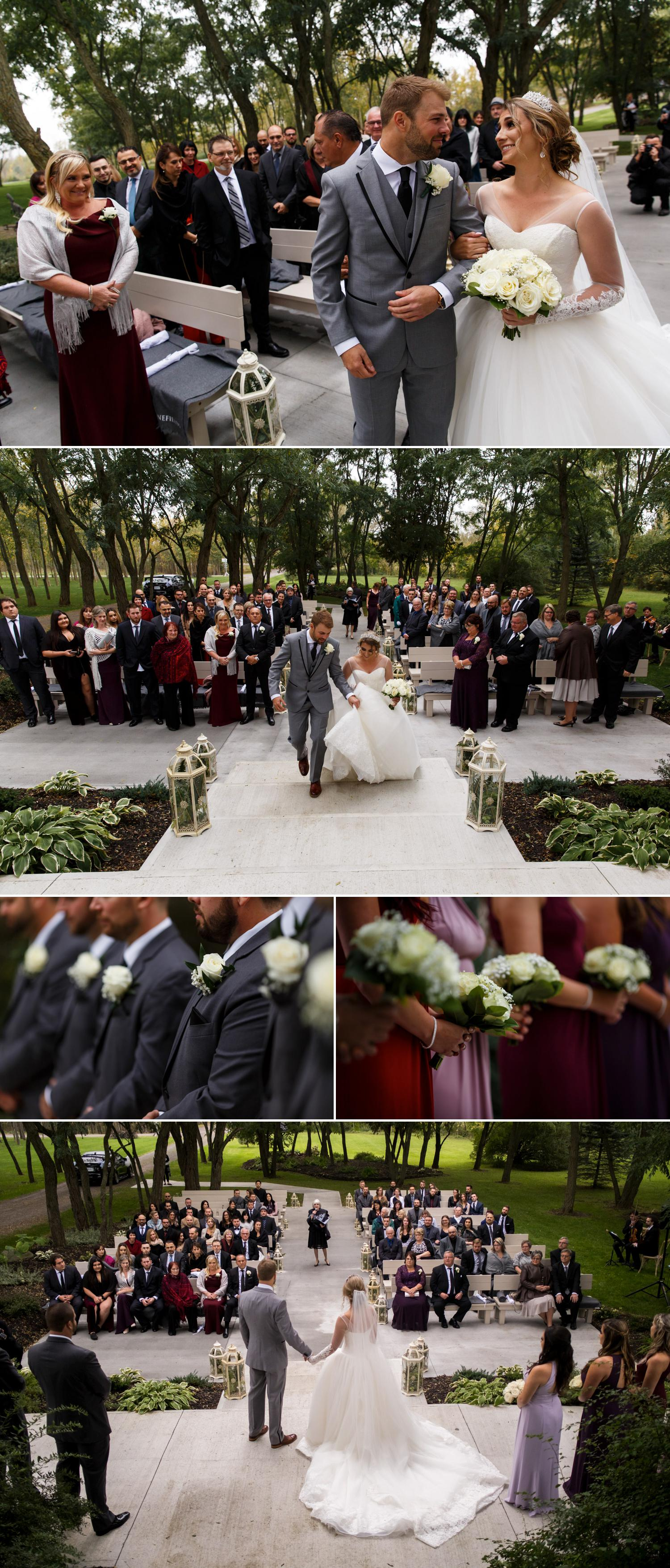 a beautiful wedding ceremony at stonefields estate