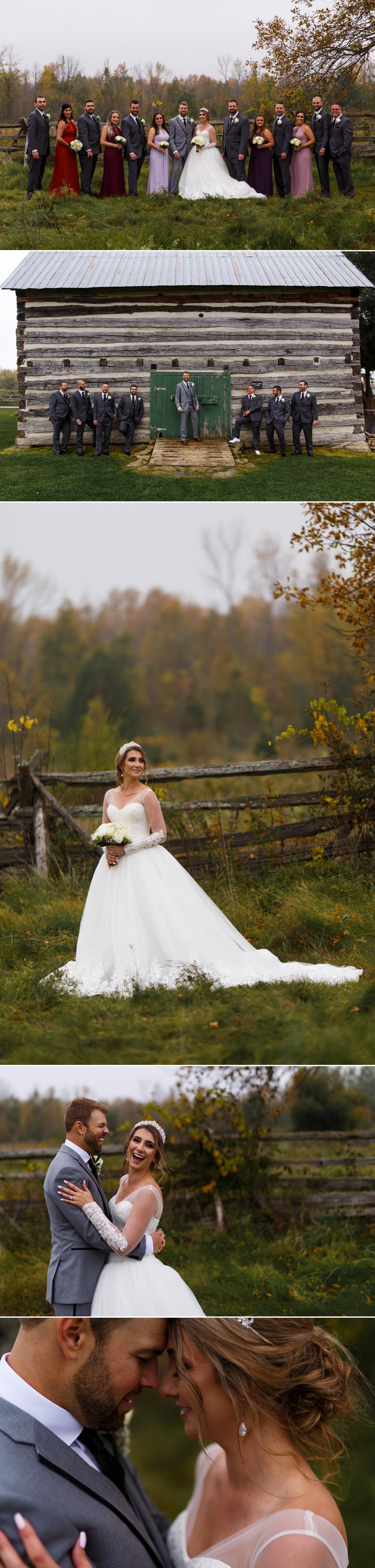 bridal portraits and wedding party portraits