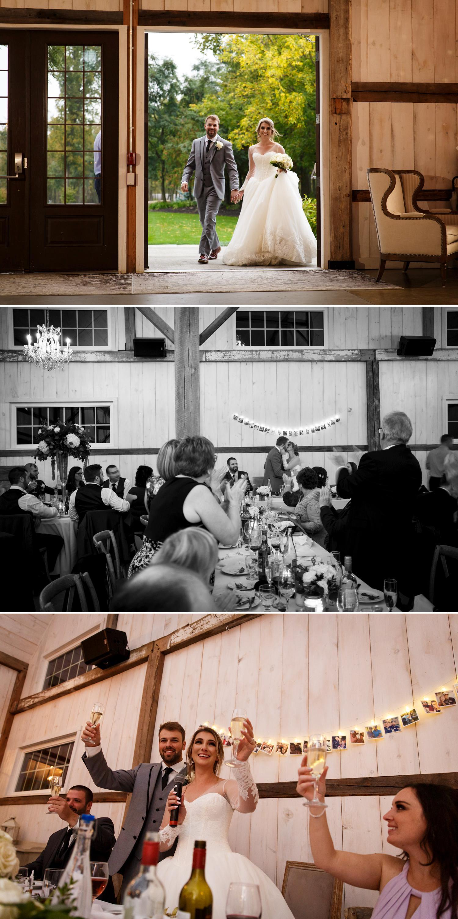 wedding reception at stonefields estate