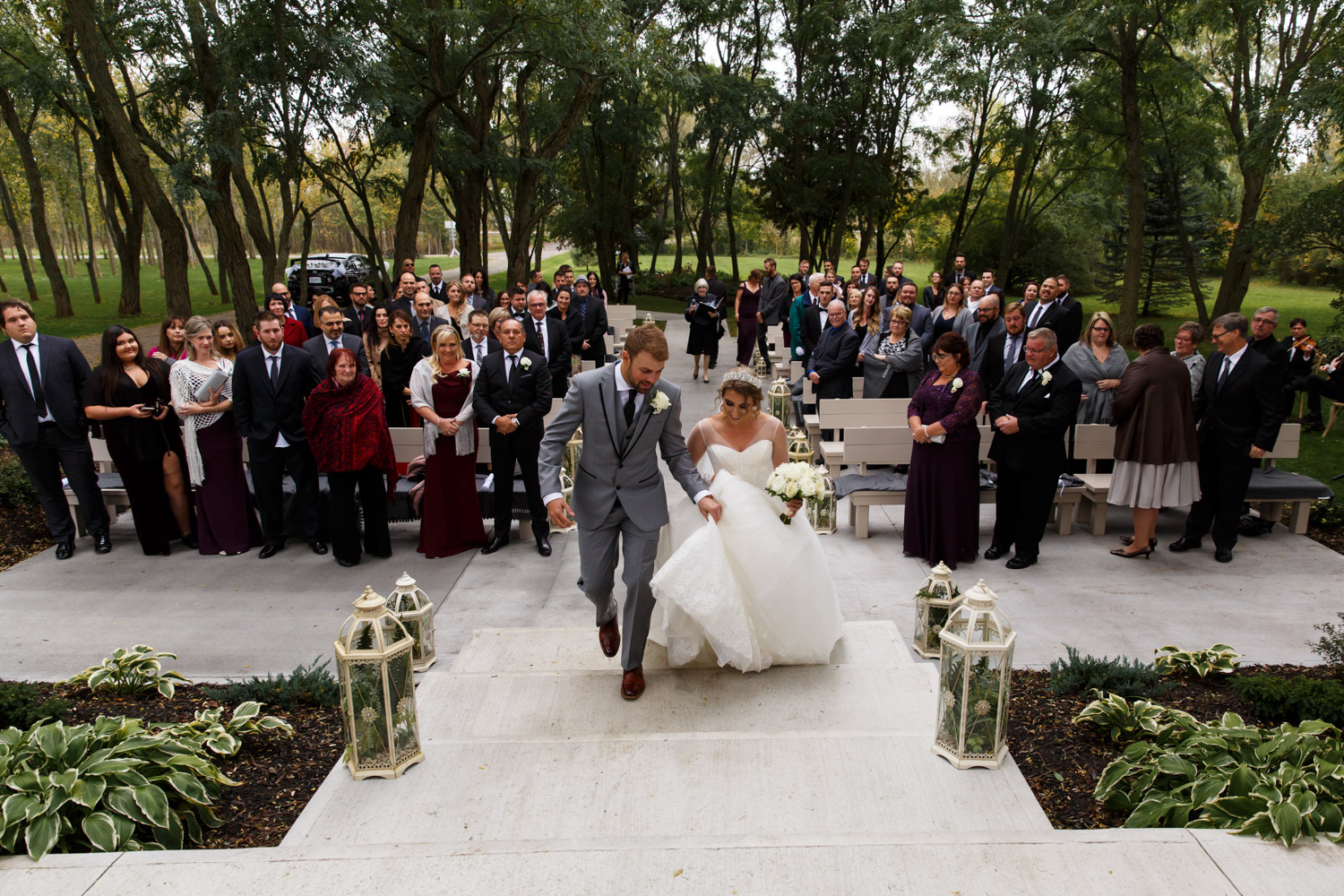 a photo of a wedding ceremony at stonefields estate