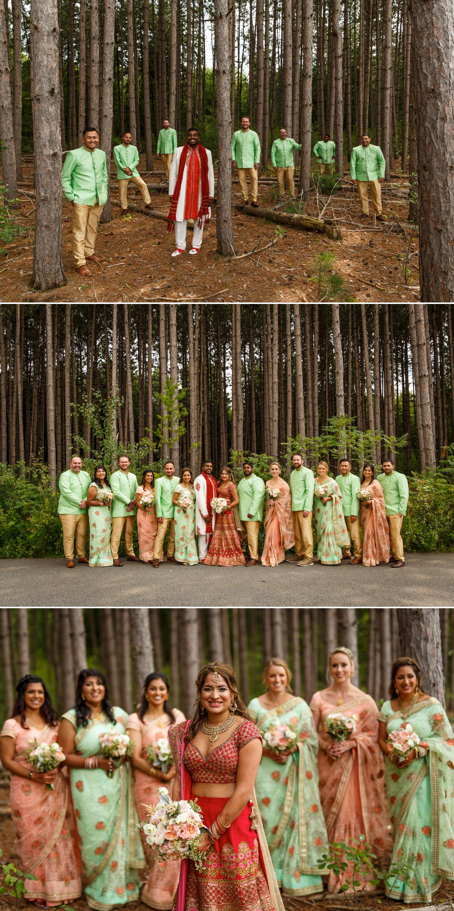 indian wedding party photographs