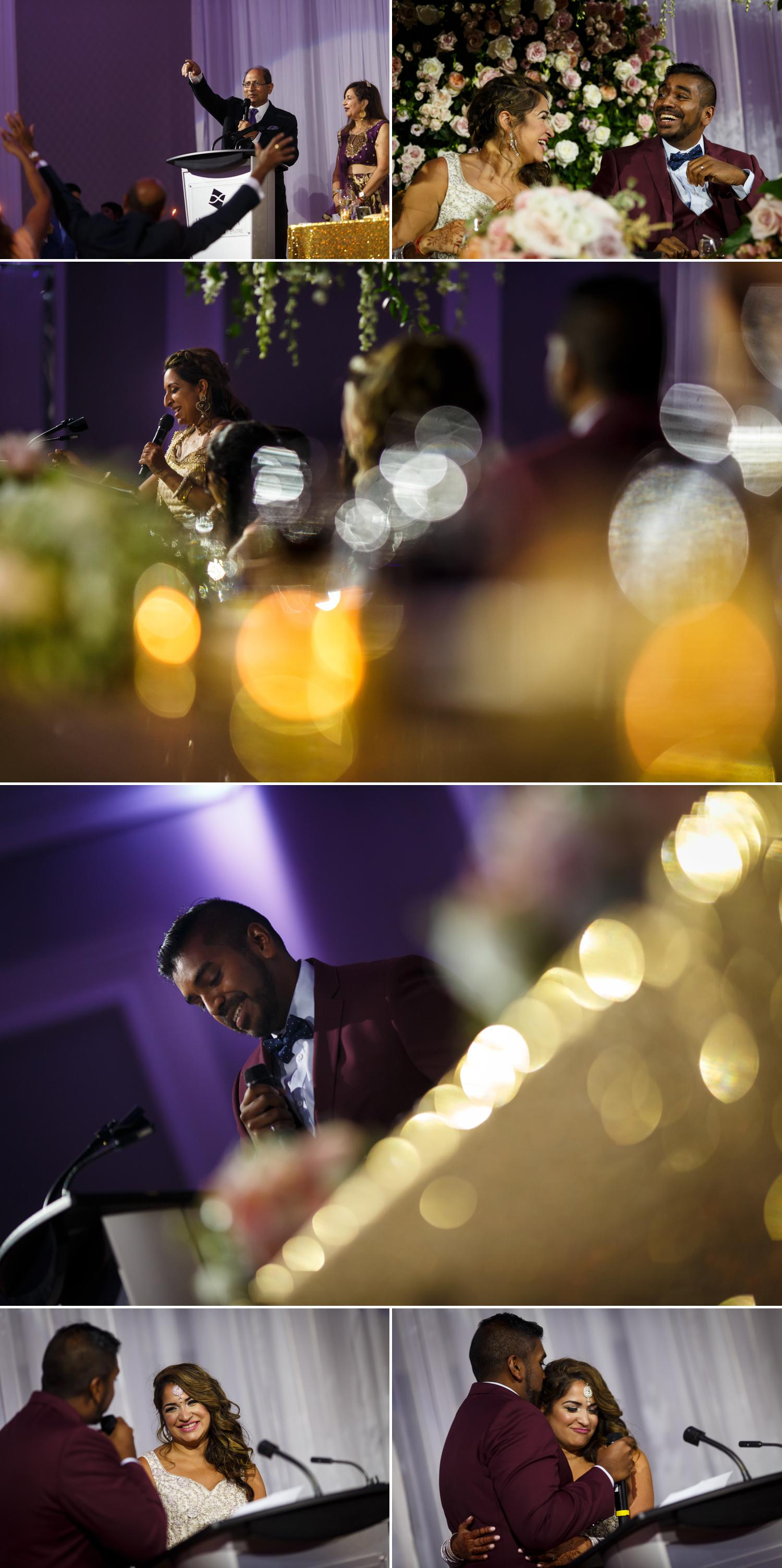 photos of an indian wedding reception at the infinity centre in ottawa