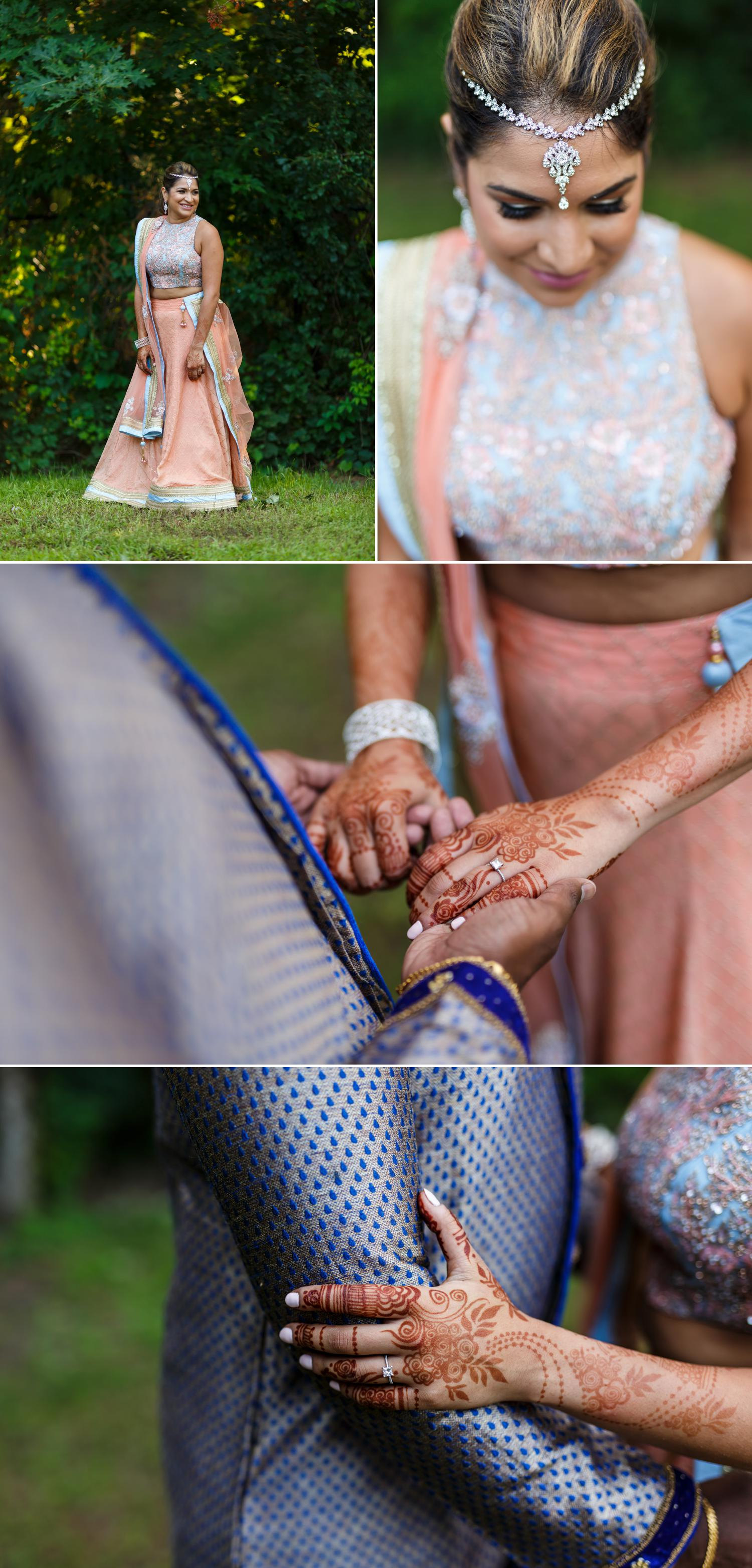 photos of an indian wedding outside of tudor hall in ottawa