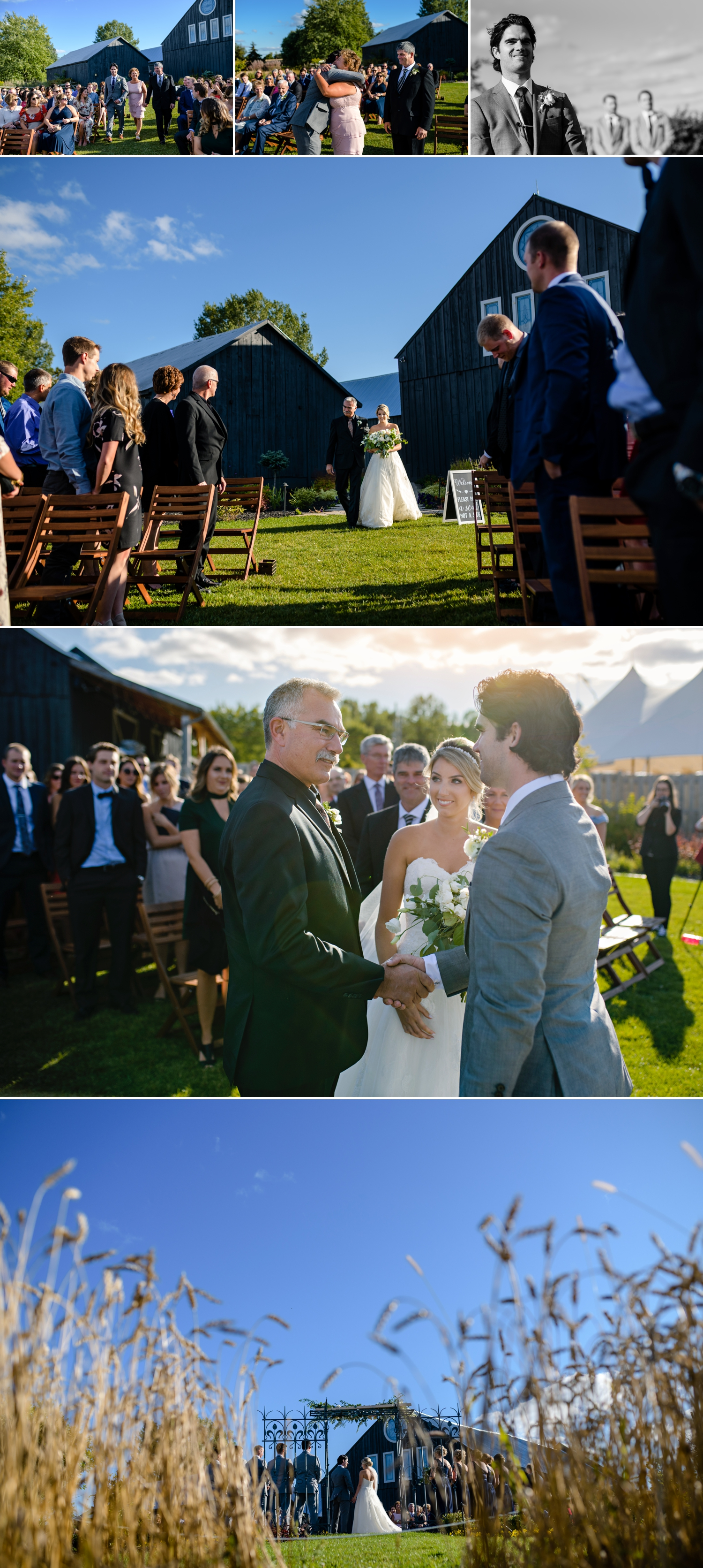candid moments during an evermore weddings and events wedding ceremony in almonte ontario