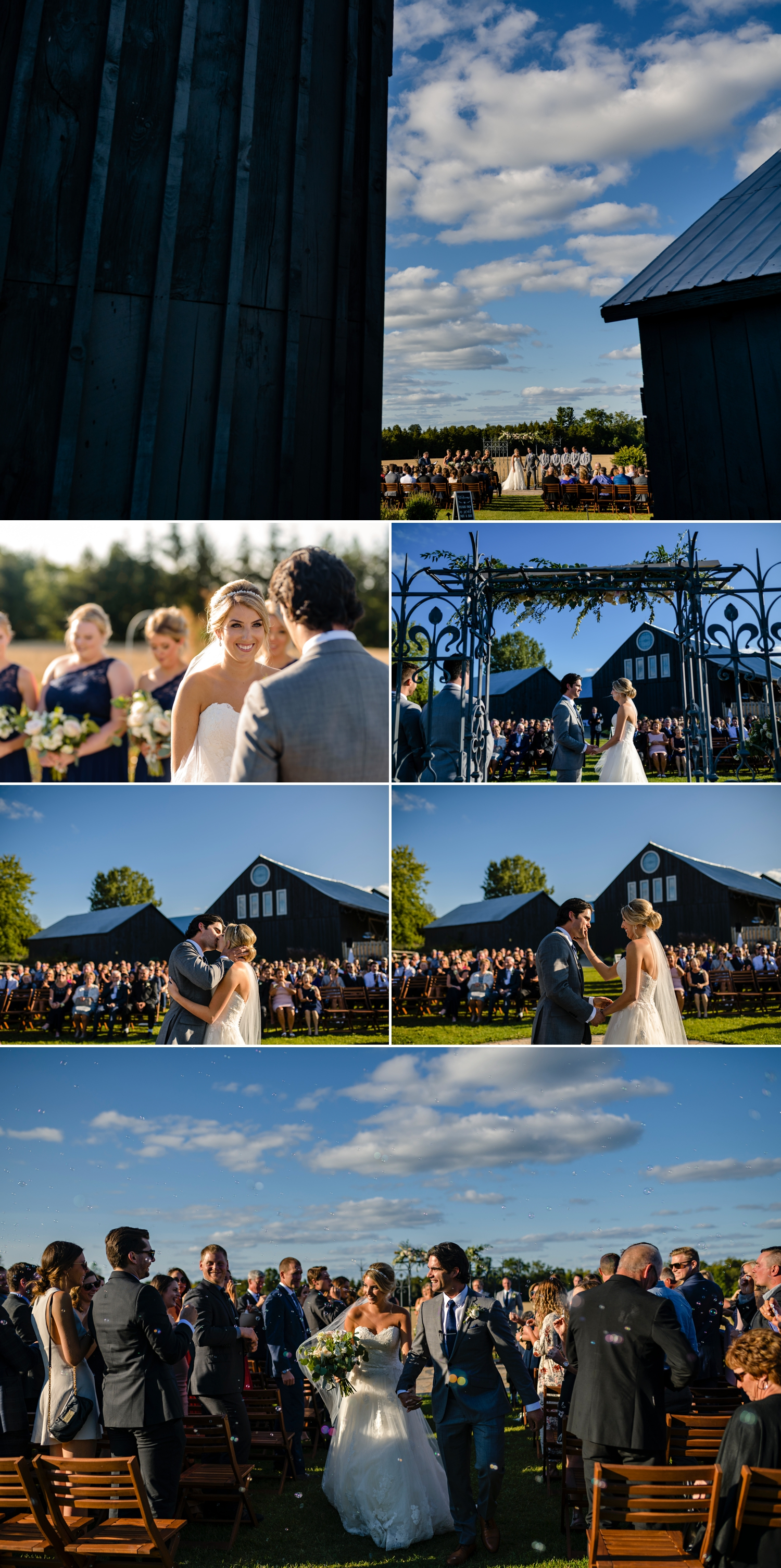 candid and natural moments during an evermore weddings and events wedding ceremony in almonte ontario