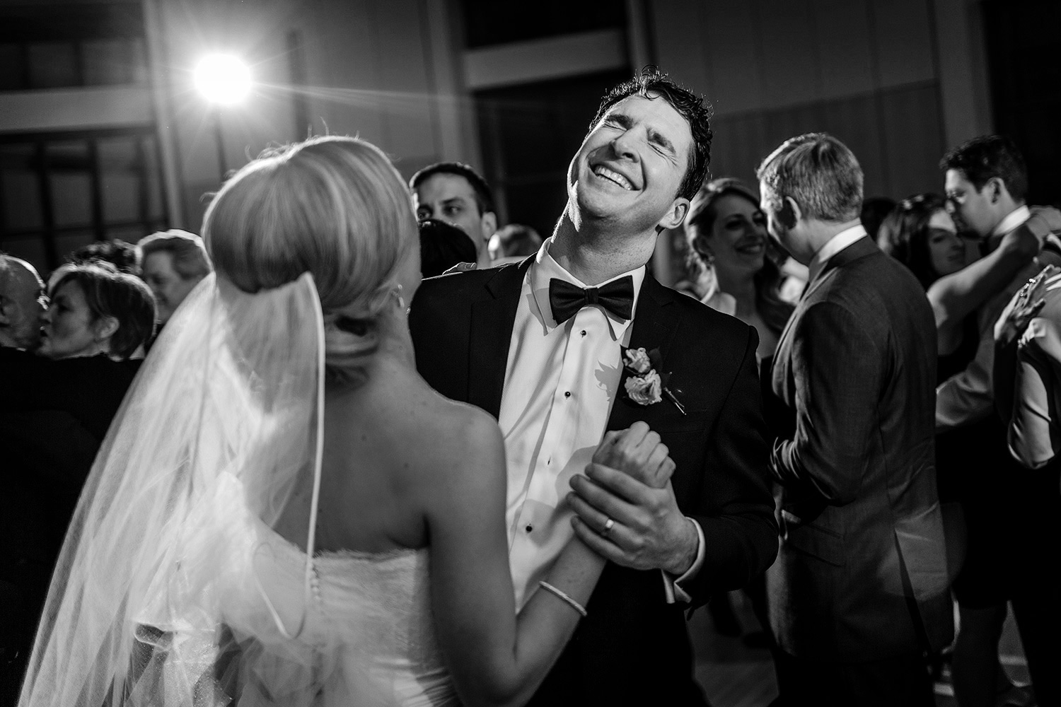 photo of a bride and groom having a moment on the dance floor at a museum of nature wedding in ottawa