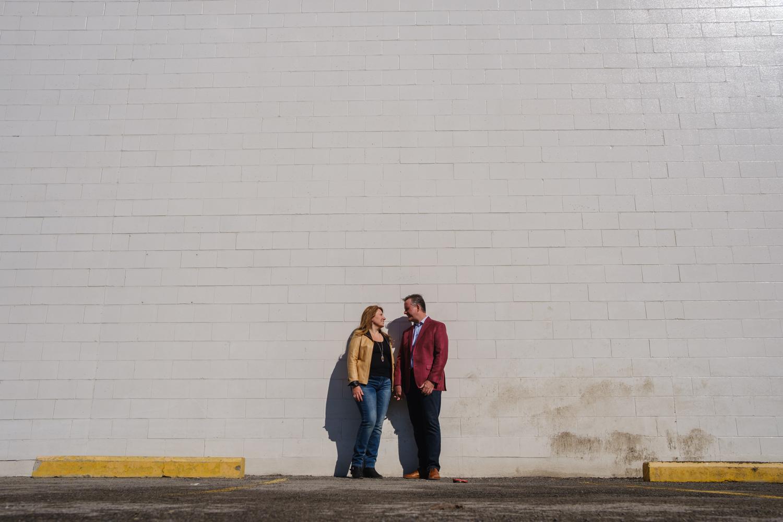 a sunny engagement portrait