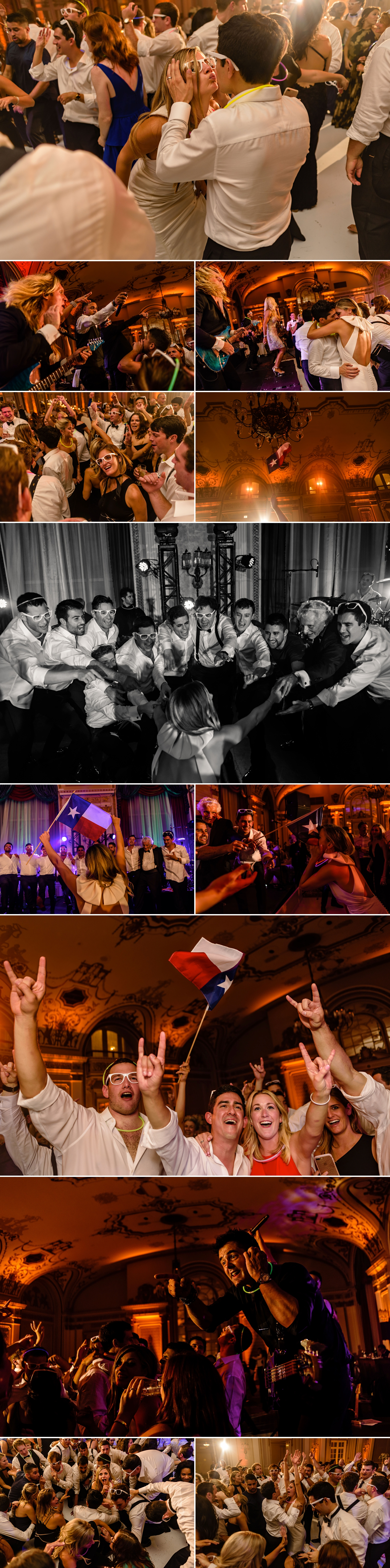 photos of candid moments on the dance floor during a jewish wedding at the chateau laurier wedding in ottawa ontario