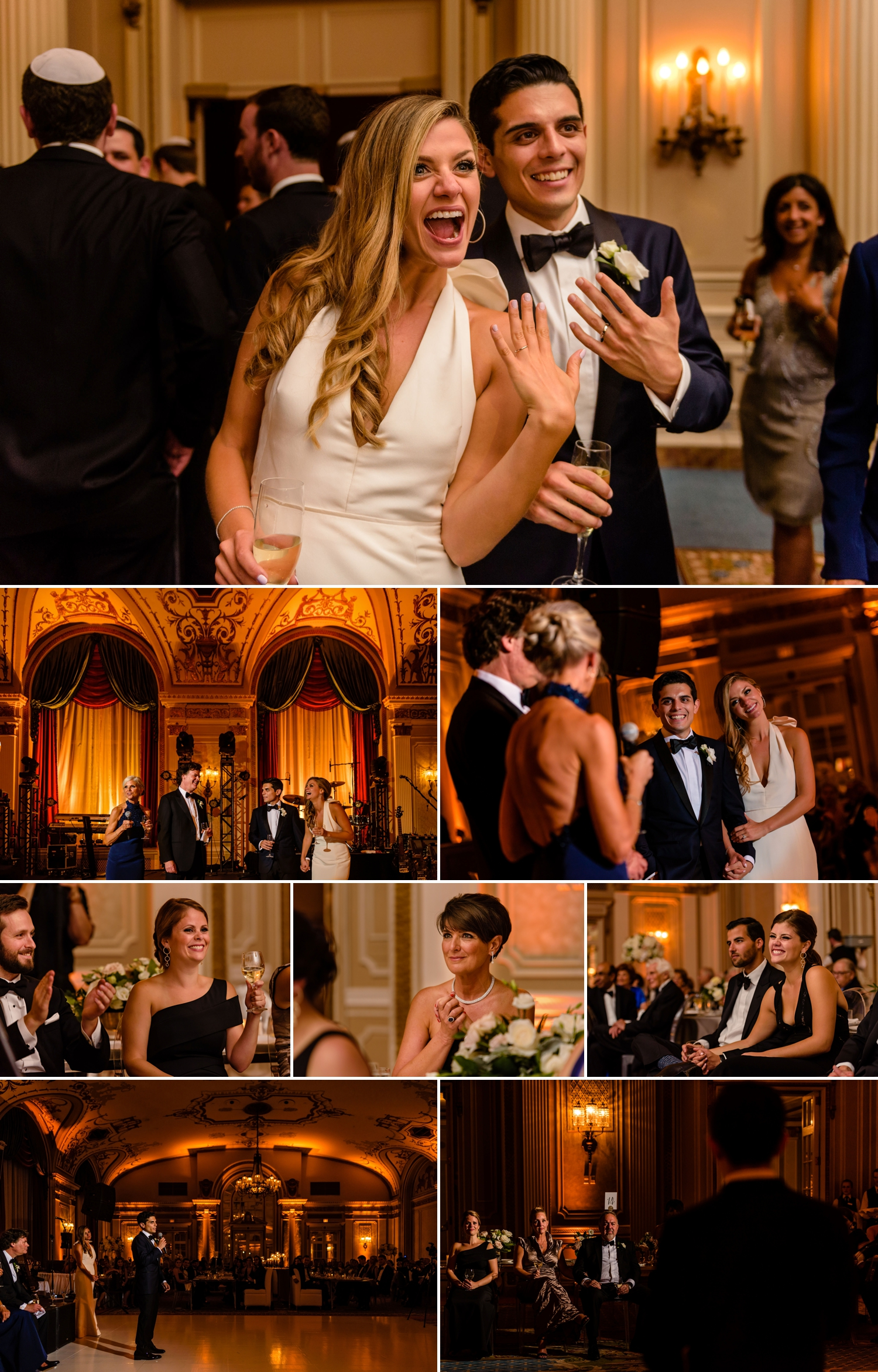 photos of candid moments during a jewish wedding reception at the chateau laurier wedding in ottawa ontario