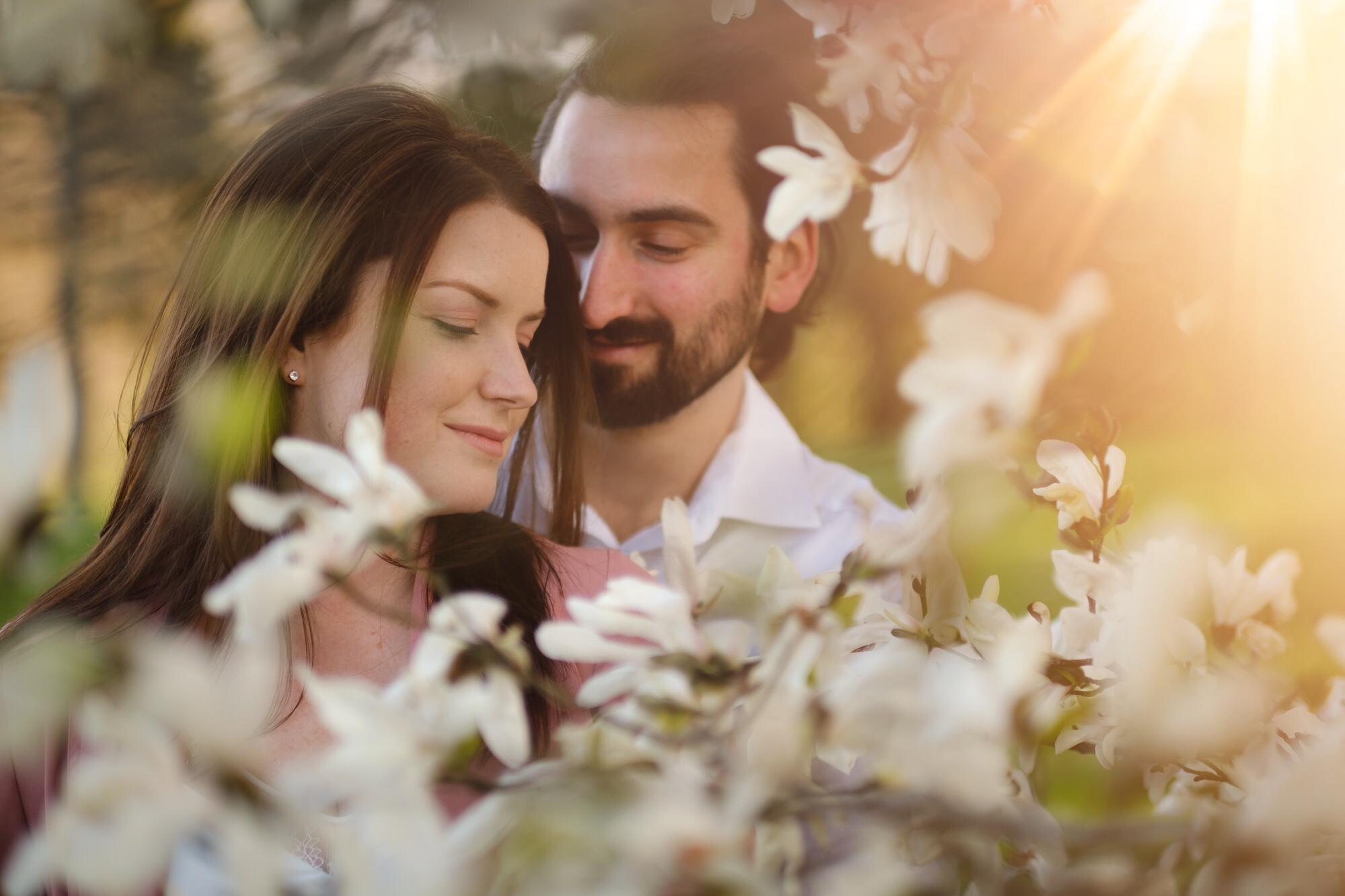a photo from a spring engagement shoot in the arboretum in ottawa ontario