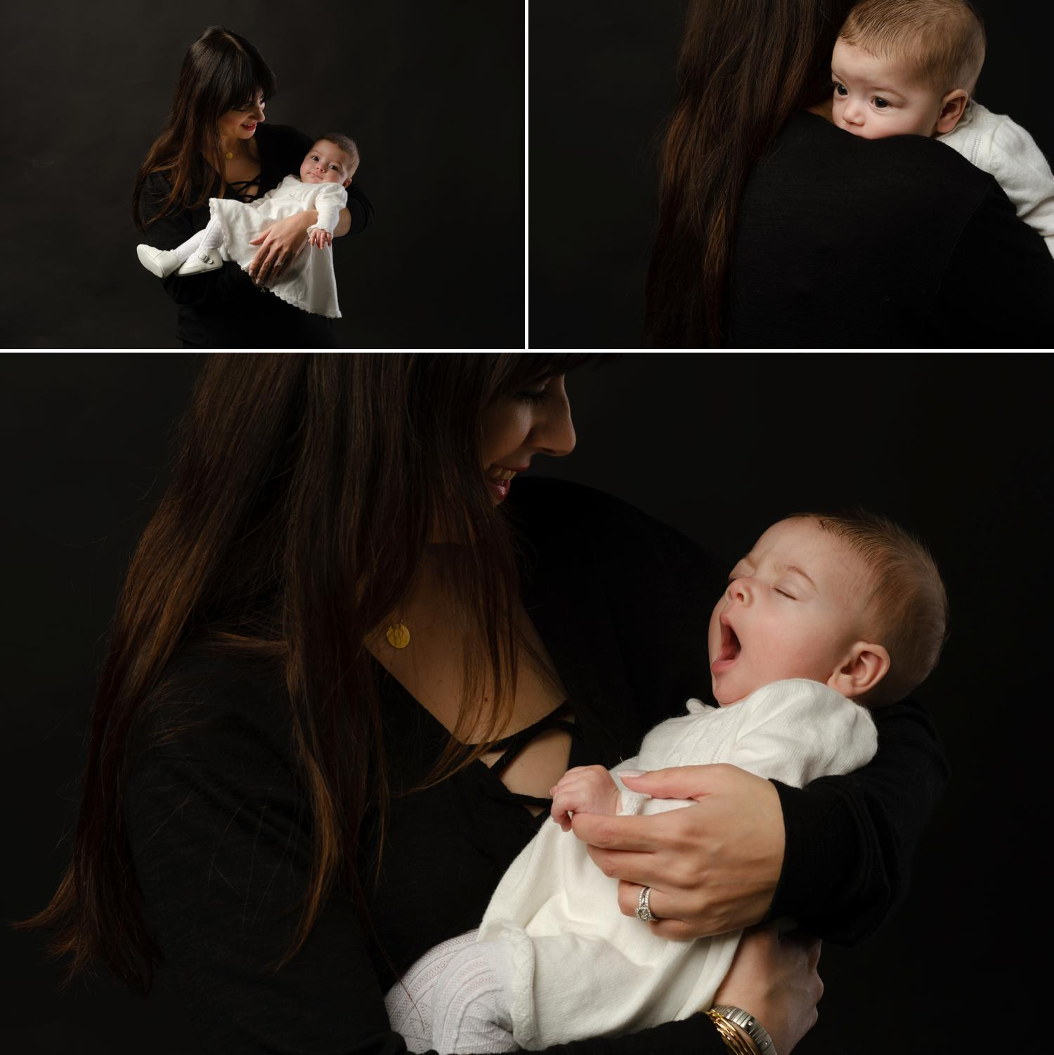 in studio portraits of a baby