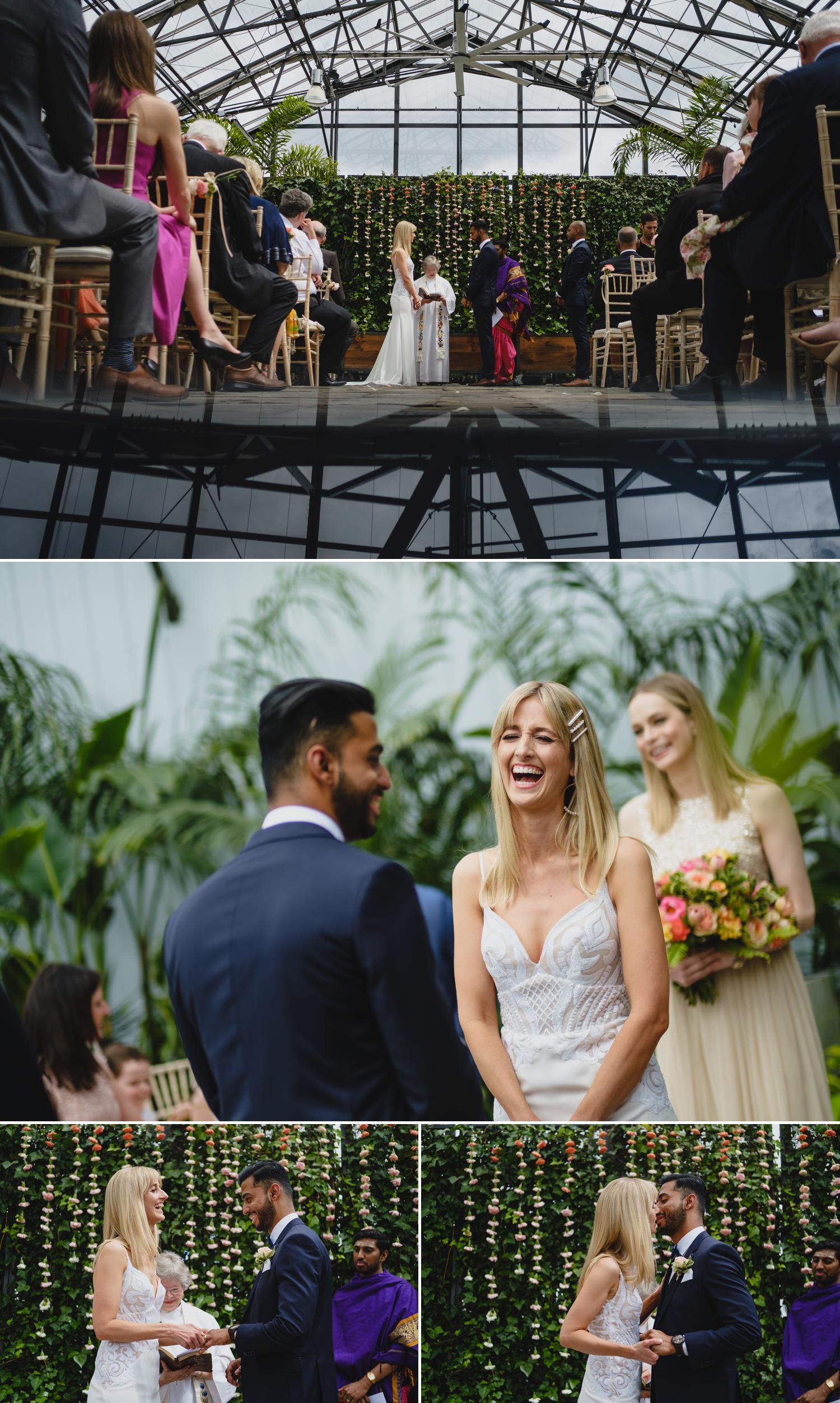 photographs of a wedding at aquatopia