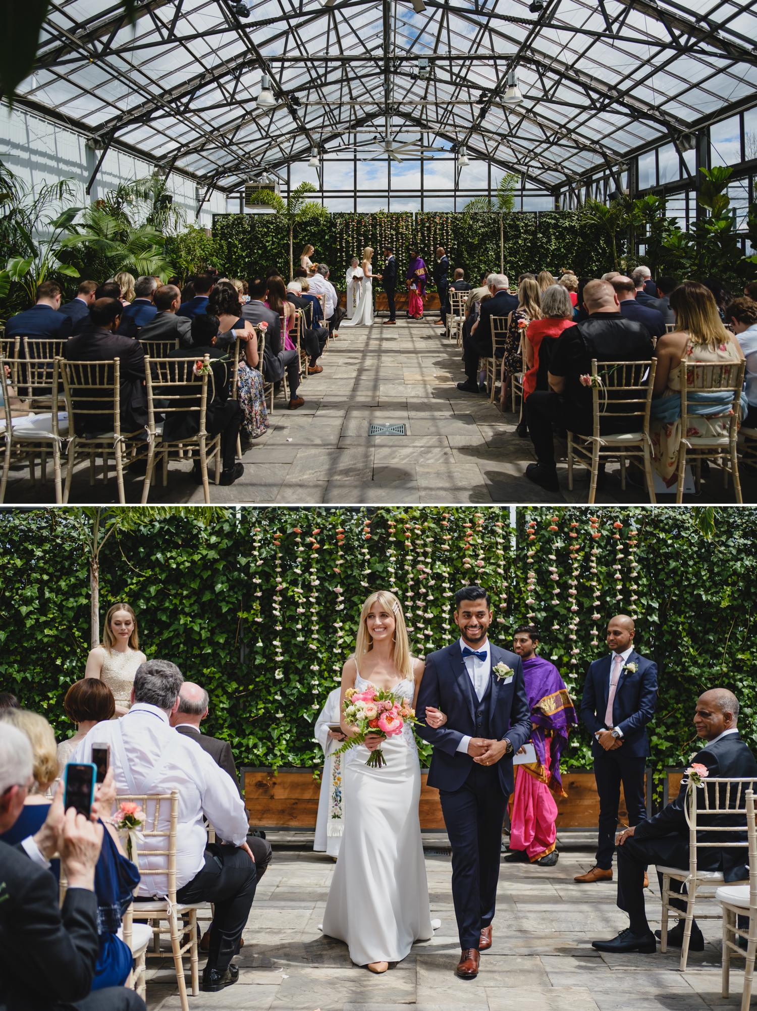 bride and groom at aquatopia