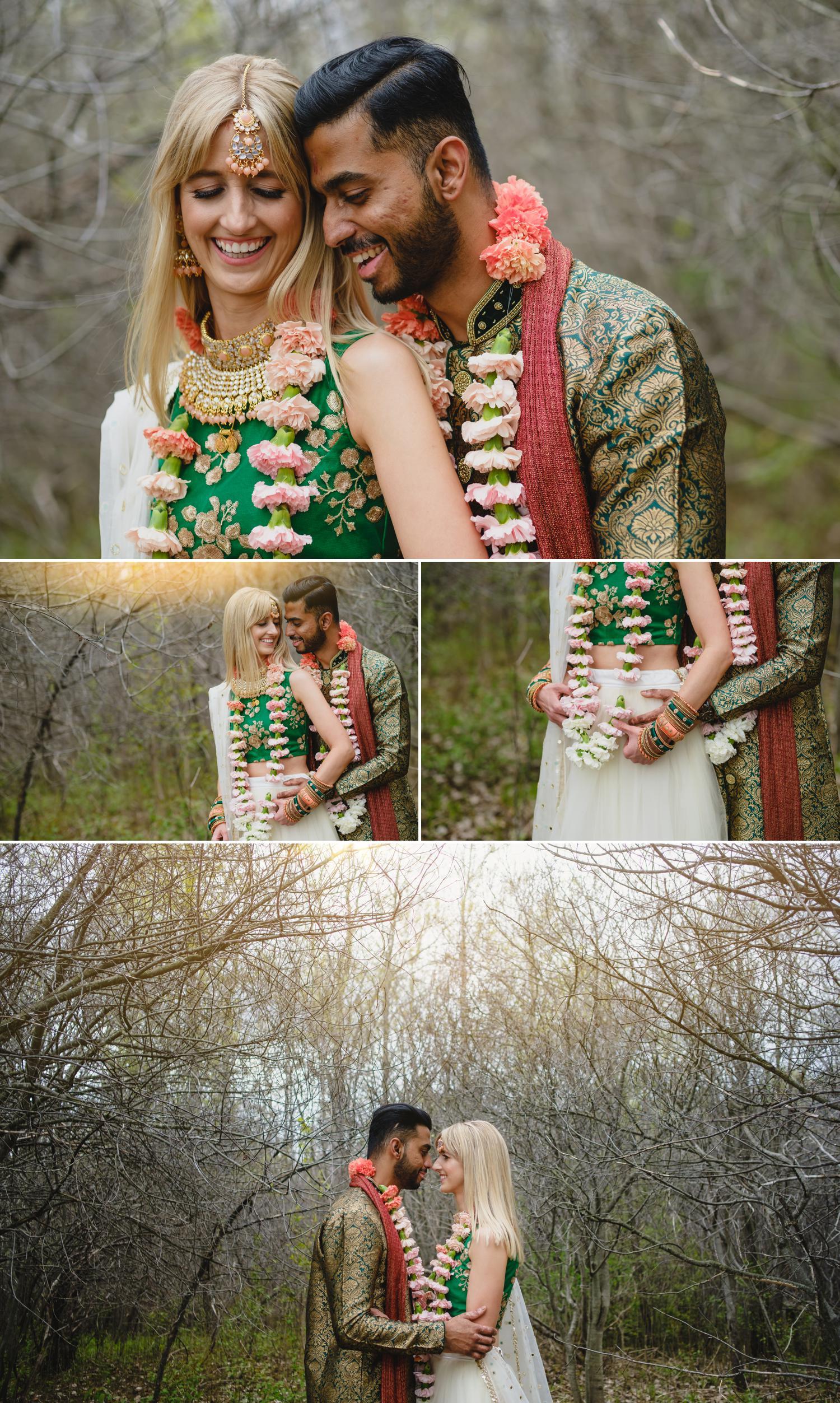 photos of a bride and groom outside aquatopia in ottawa