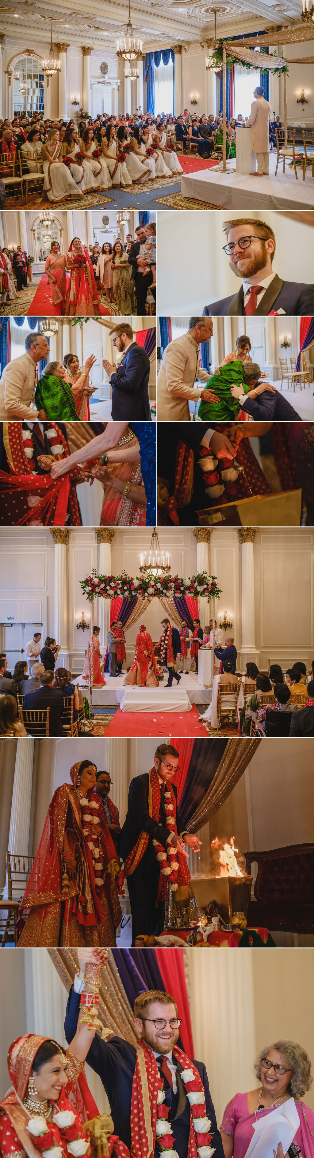 a hindu wedding ceremony at the chateau laurier in ottawa